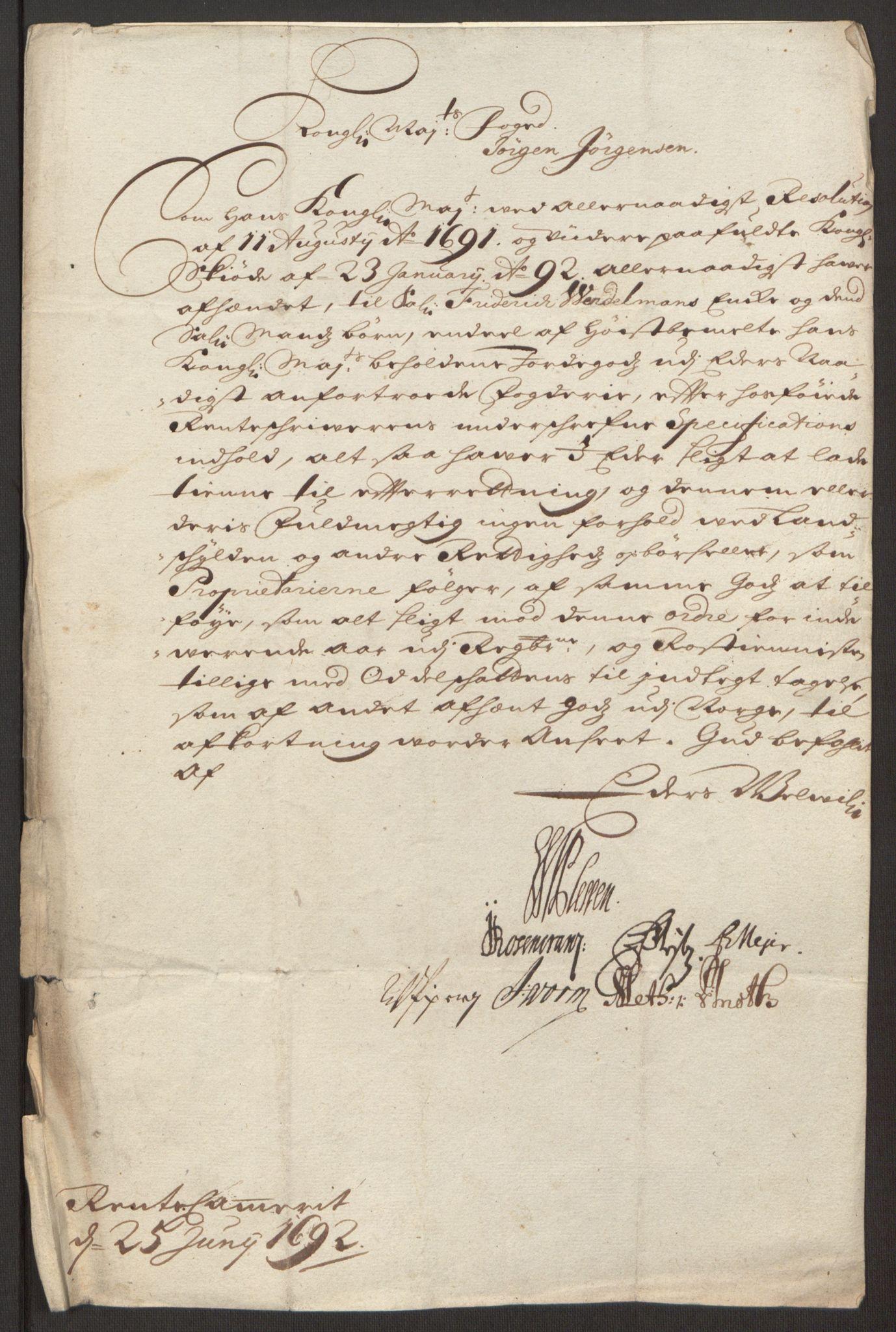 RA, Rentekammeret inntil 1814, Reviderte regnskaper, Fogderegnskap, R13/L0830: Fogderegnskap Solør, Odal og Østerdal, 1692, s. 35