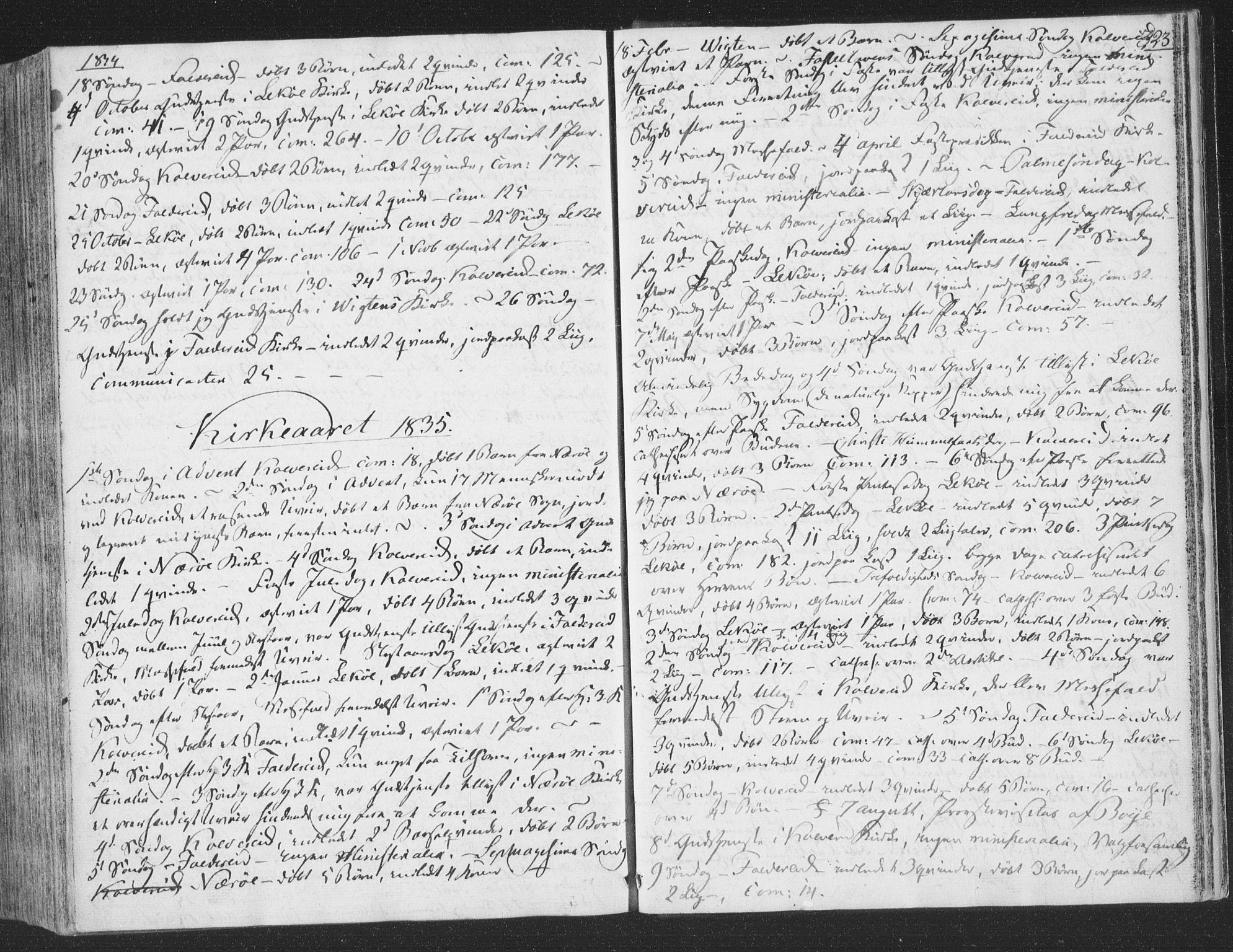 SAT, Ministerialprotokoller, klokkerbøker og fødselsregistre - Nord-Trøndelag, 780/L0639: Ministerialbok nr. 780A04, 1830-1844, s. 323