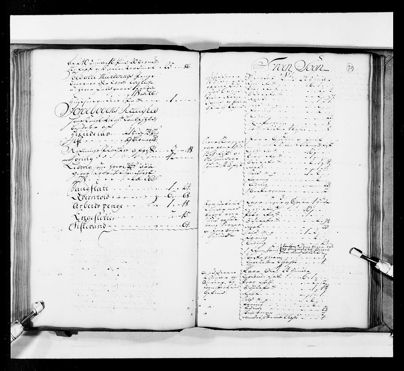 RA, Stattholderembetet 1572-1771, Ek/L0036: Jordebøker 1662-1720:, 1719, s. 72b-73a