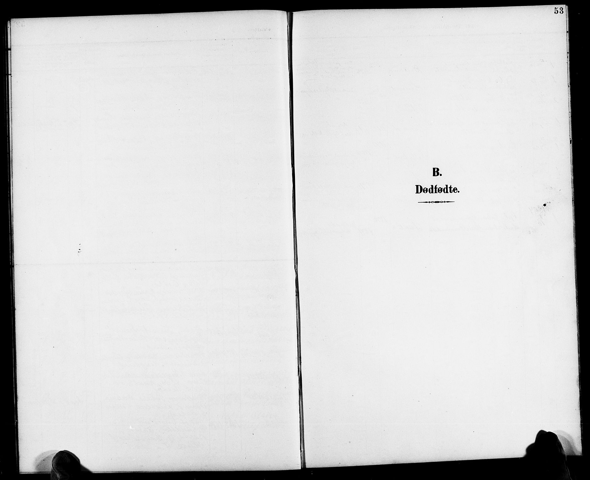SAK, Herefoss sokneprestkontor, F/Fb/Fbb/L0003: Klokkerbok nr. B 3, 1892-1917, s. 53