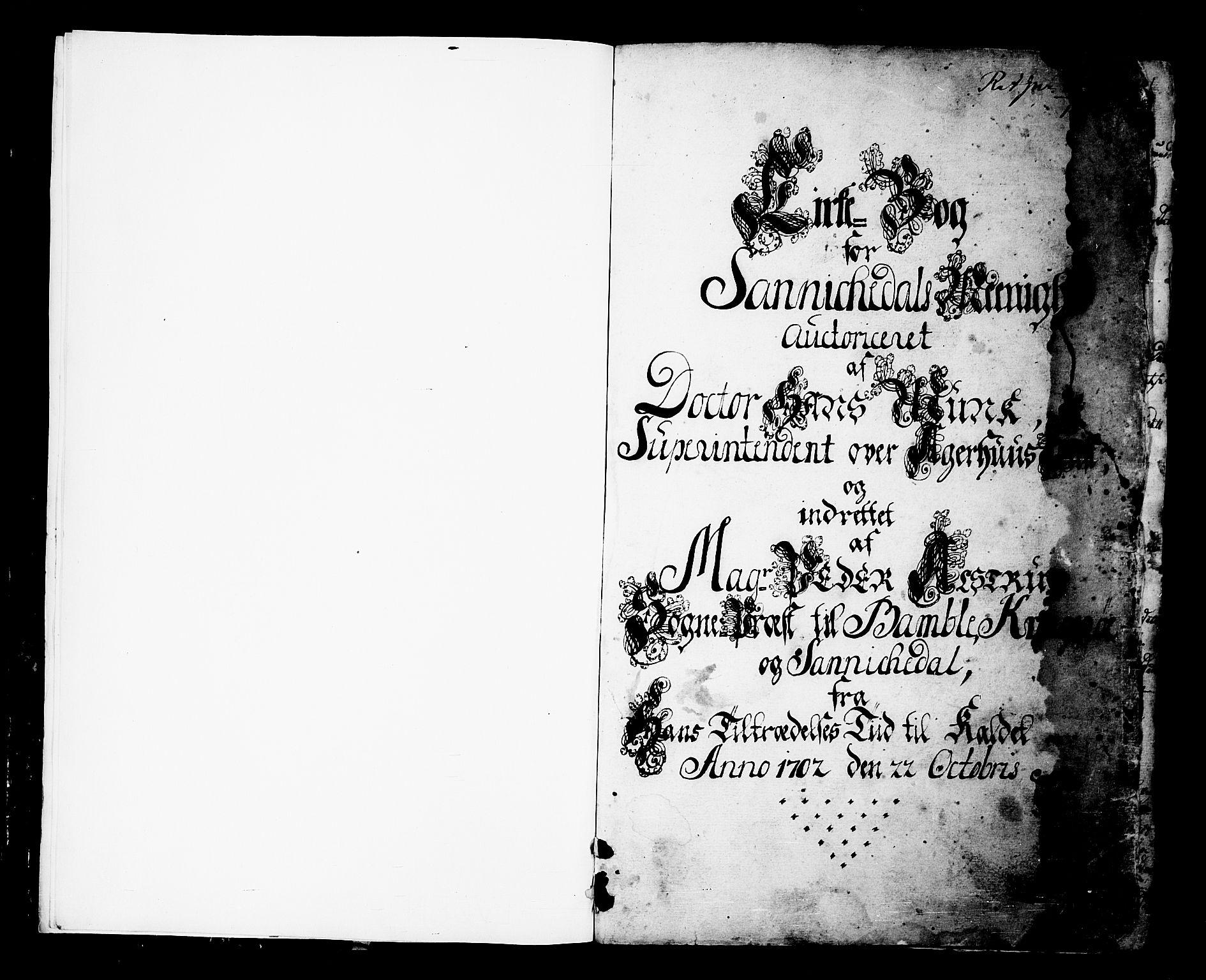 SAKO, Sannidal kirkebøker, F/Fa/L0001: Ministerialbok nr. 1, 1702-1766