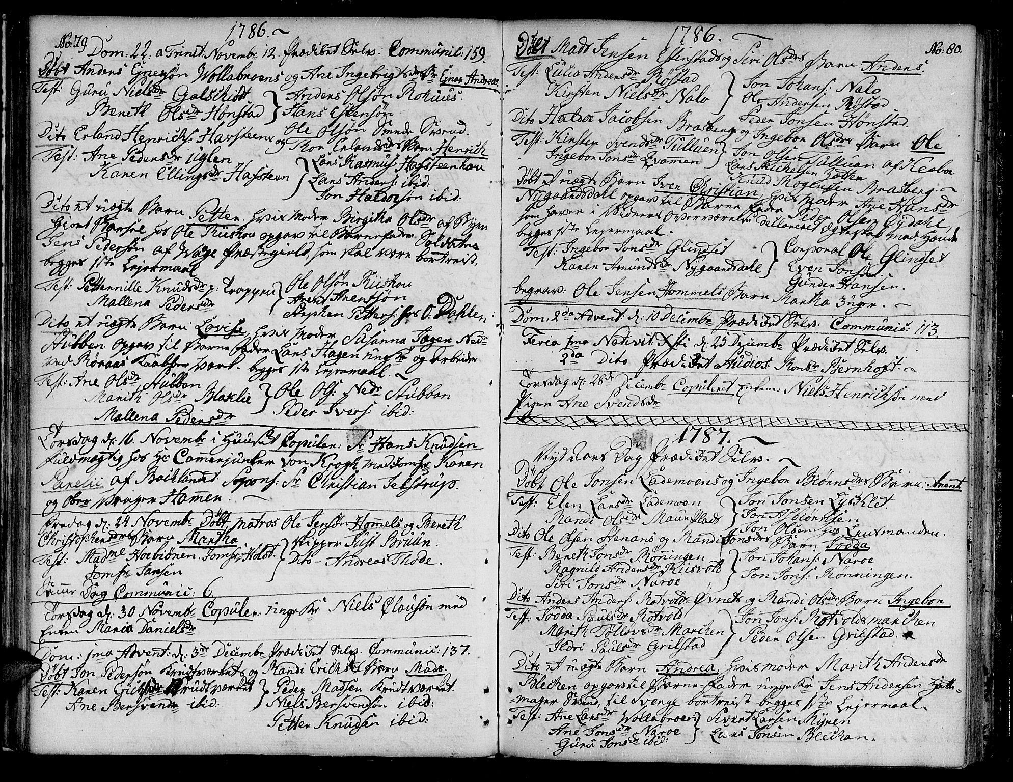 SAT, Ministerialprotokoller, klokkerbøker og fødselsregistre - Sør-Trøndelag, 604/L0180: Ministerialbok nr. 604A01, 1780-1797, s. 79-80