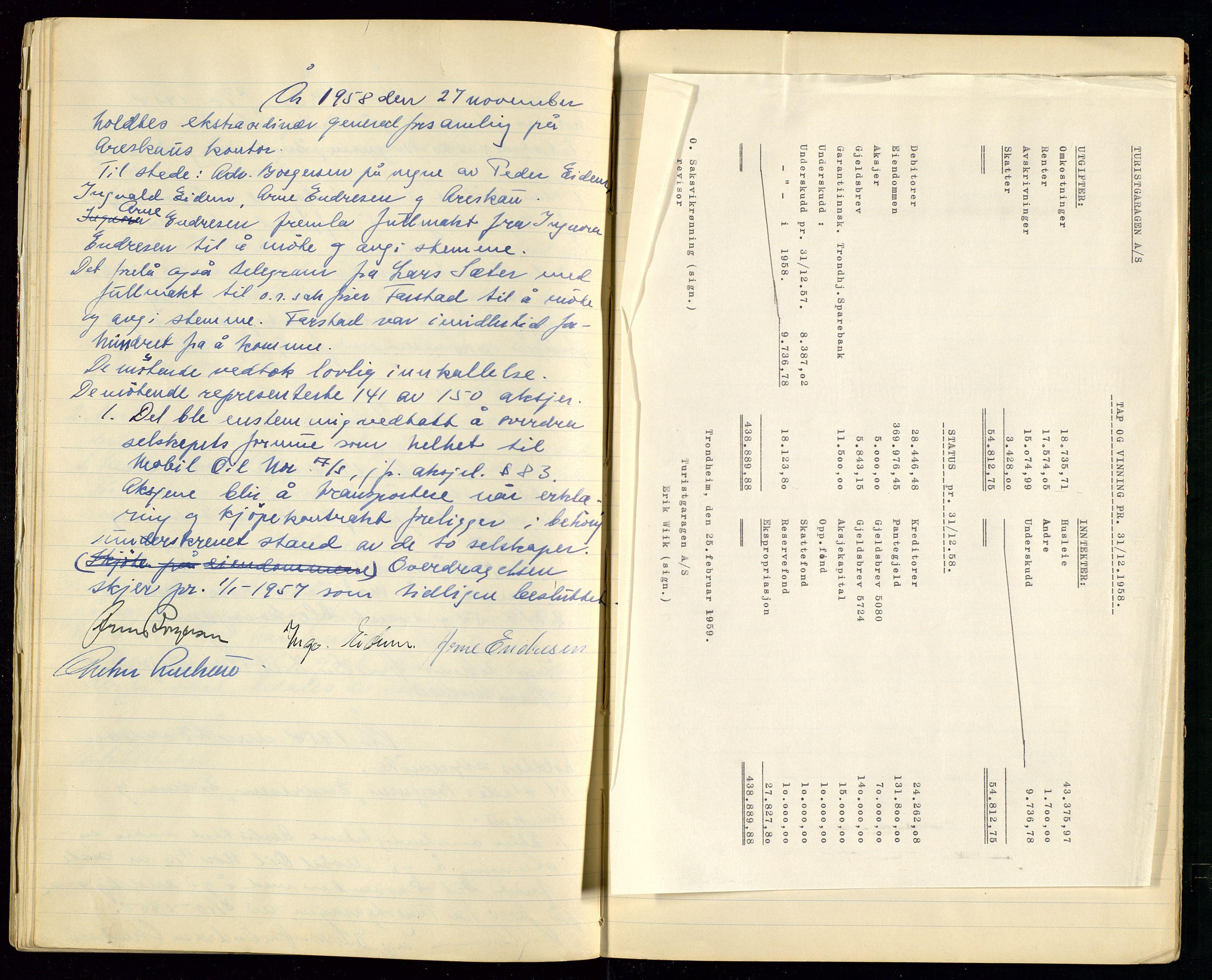 SAST, PA 1515 - Turistgarasjen A/S, A/L0001: Forhandlingsprotokoll, 1937-1958, s. 48