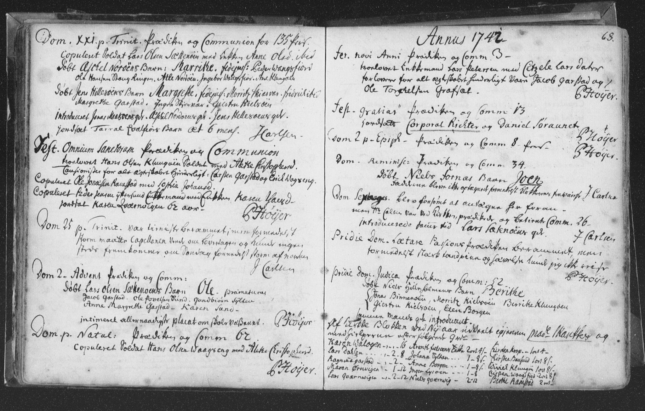 SAT, Ministerialprotokoller, klokkerbøker og fødselsregistre - Nord-Trøndelag, 786/L0685: Ministerialbok nr. 786A01, 1710-1798, s. 68