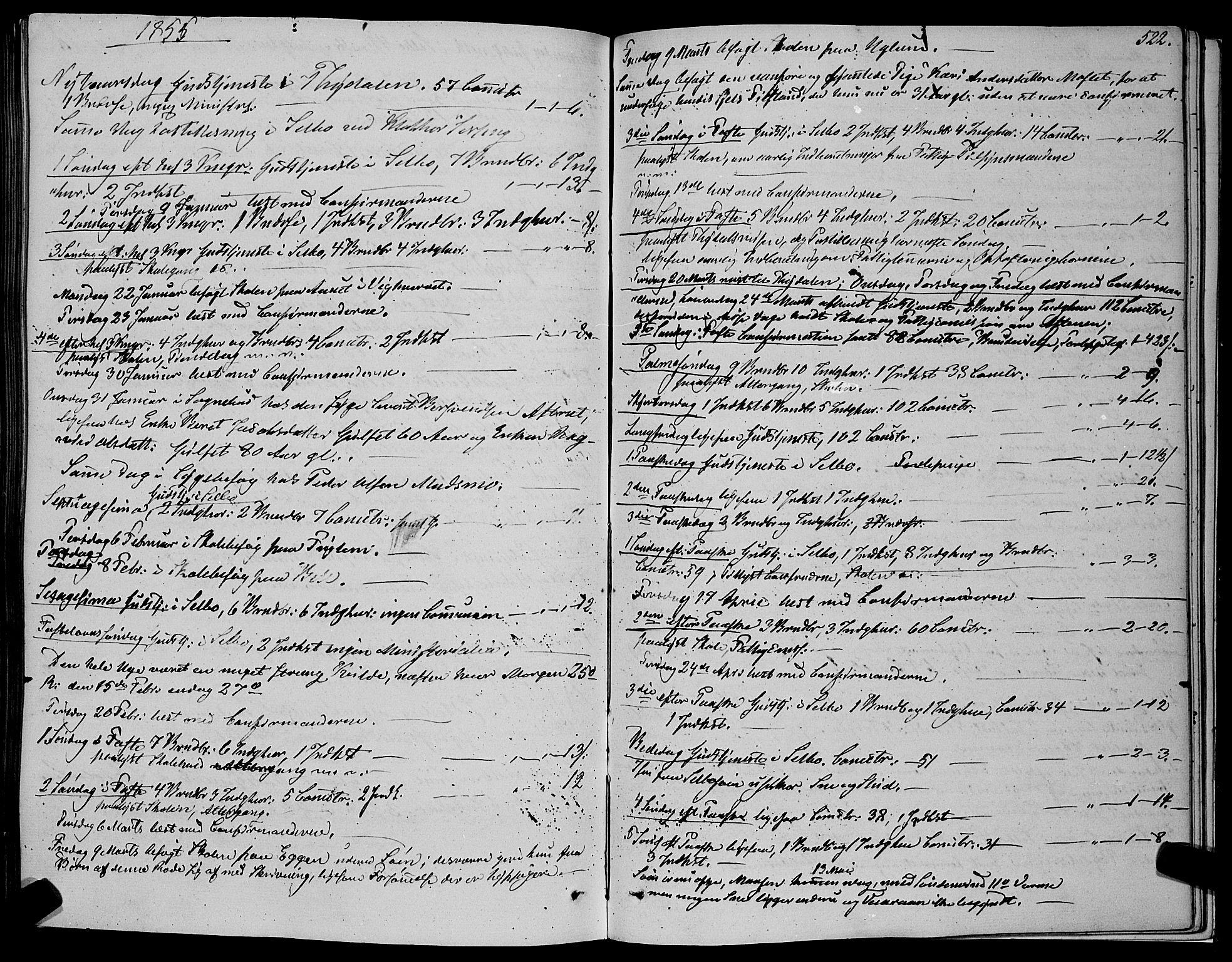 SAT, Ministerialprotokoller, klokkerbøker og fødselsregistre - Sør-Trøndelag, 695/L1145: Ministerialbok nr. 695A06 /1, 1843-1859, s. 522