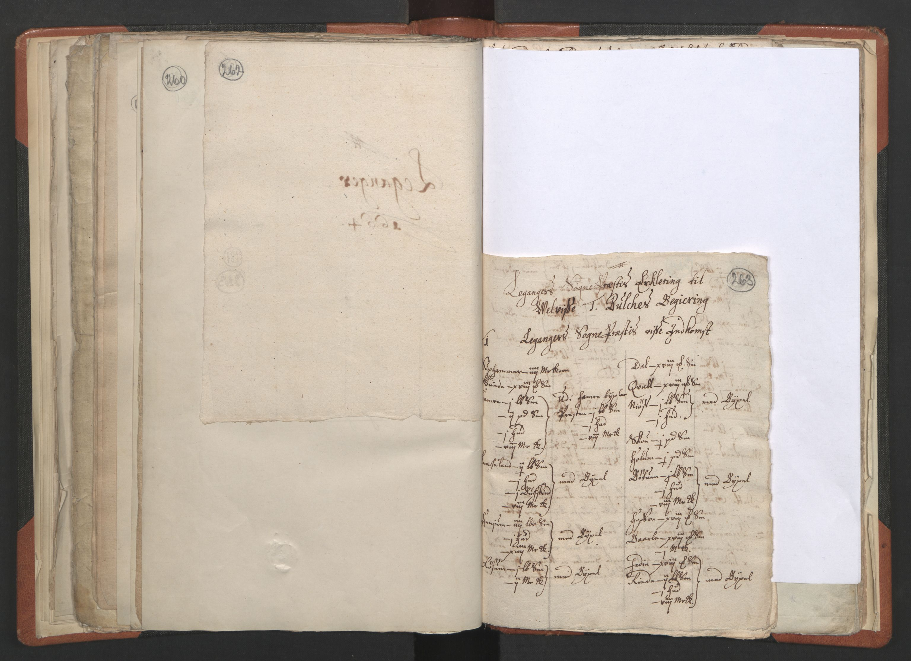 RA, Sogneprestenes manntall 1664-1666, nr. 23: Sogn prosti, 1664-1666, s. 262-263