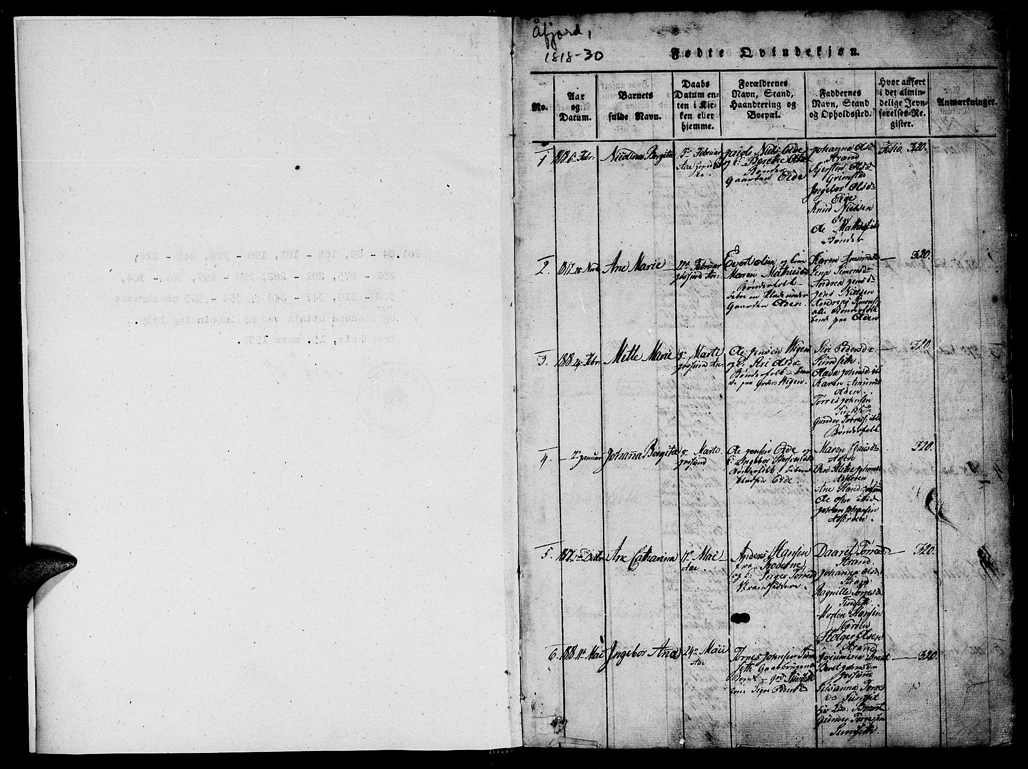 SAT, Ministerialprotokoller, klokkerbøker og fødselsregistre - Sør-Trøndelag, 655/L0675: Ministerialbok nr. 655A04, 1818-1830, s. 1