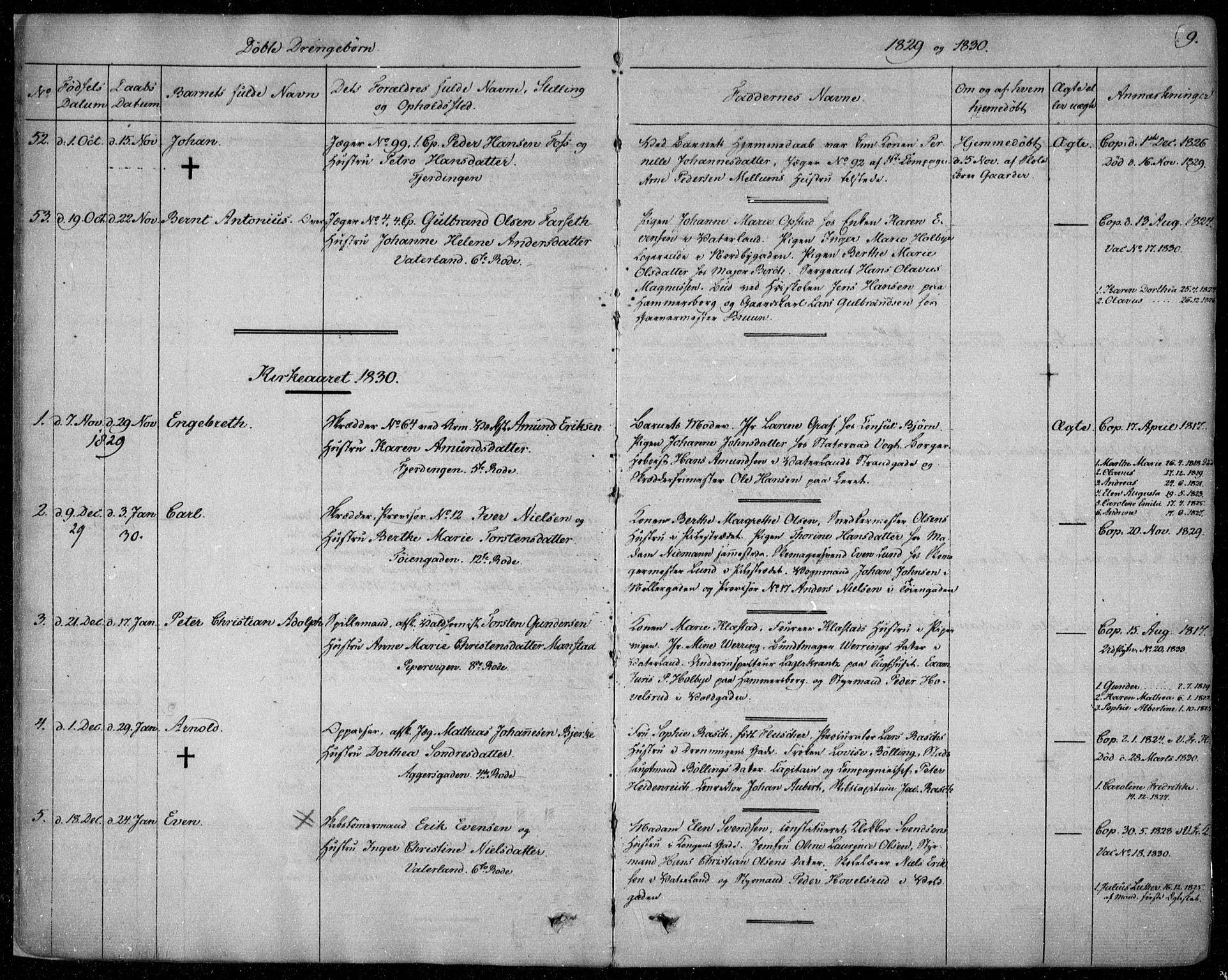 SAO, Garnisonsmenigheten Kirkebøker, F/Fa/L0006: Ministerialbok nr. 6, 1828-1841, s. 9