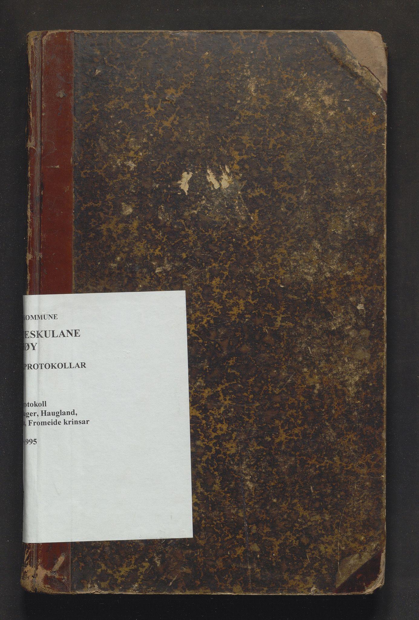 IKAH, Askøy kommune. Barneskulane, F/Fi/L0001: Skuleprotokoll for Fauskanger, Haugland, Berland og Fromeide krinsar, 1879-1895
