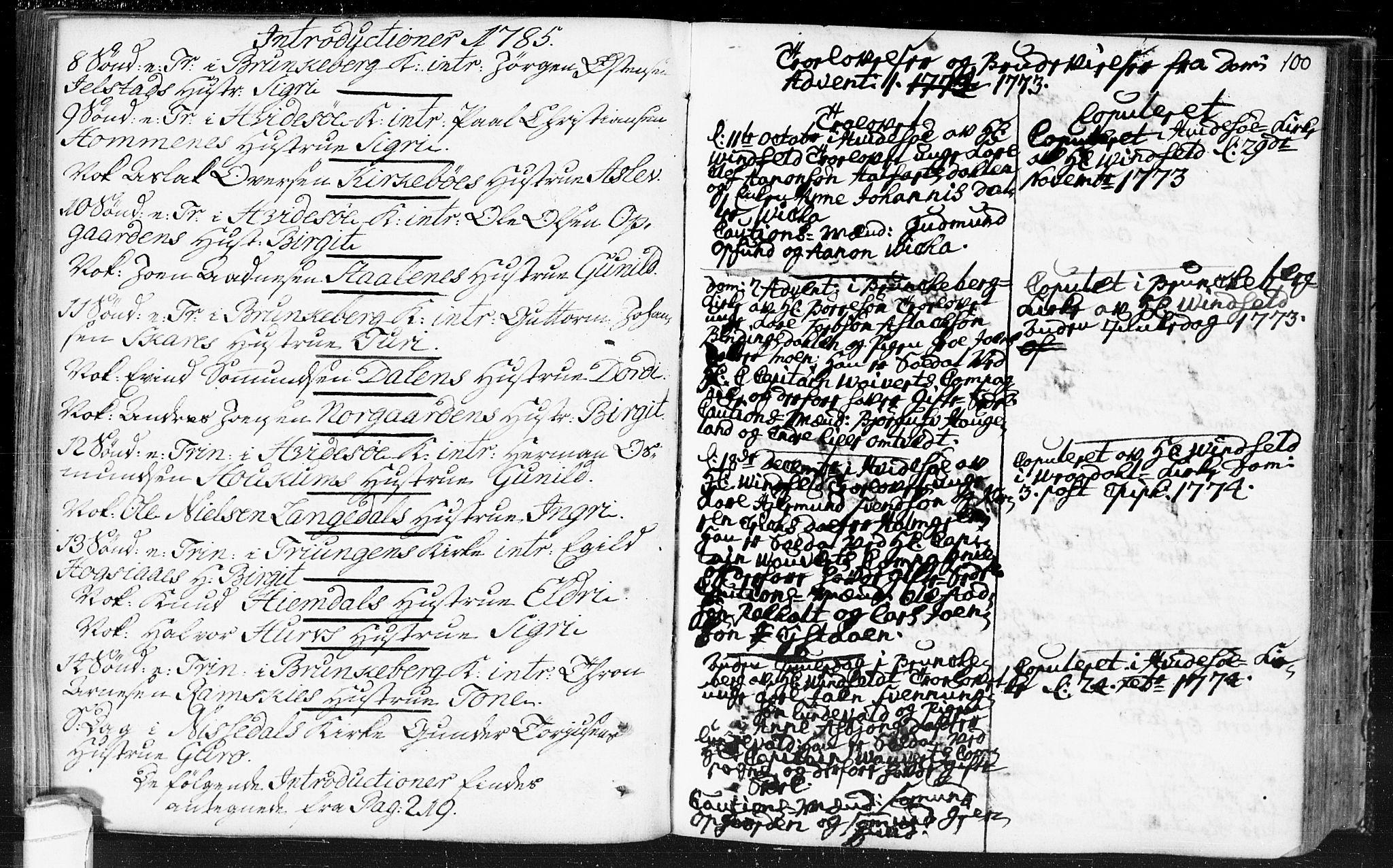 SAKO, Kviteseid kirkebøker, F/Fa/L0002: Ministerialbok nr. I 2, 1773-1786, s. 100