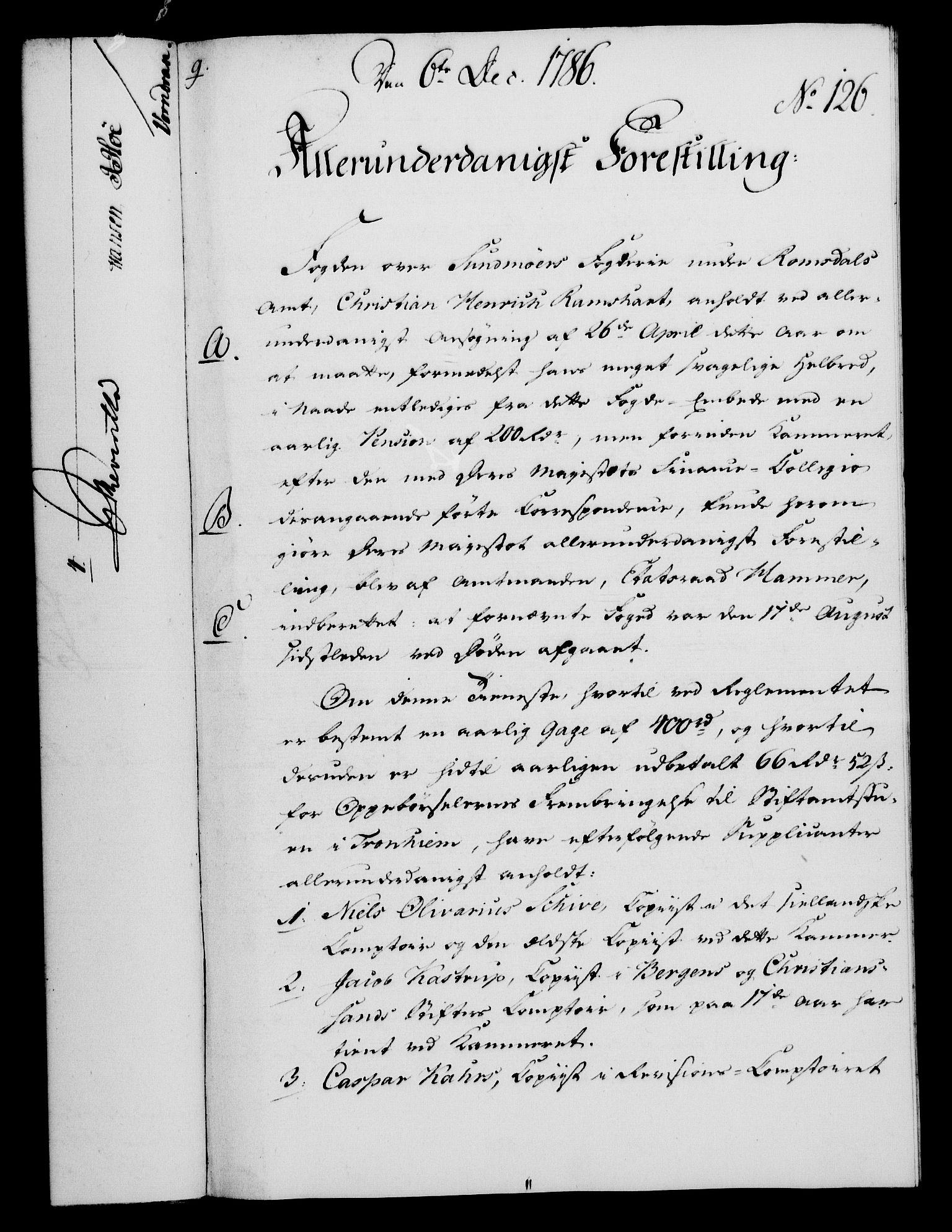 RA, Rentekammeret, Kammerkanselliet, G/Gf/Gfa/L0068: Norsk relasjons- og resolusjonsprotokoll (merket RK 52.68), 1786, s. 1020