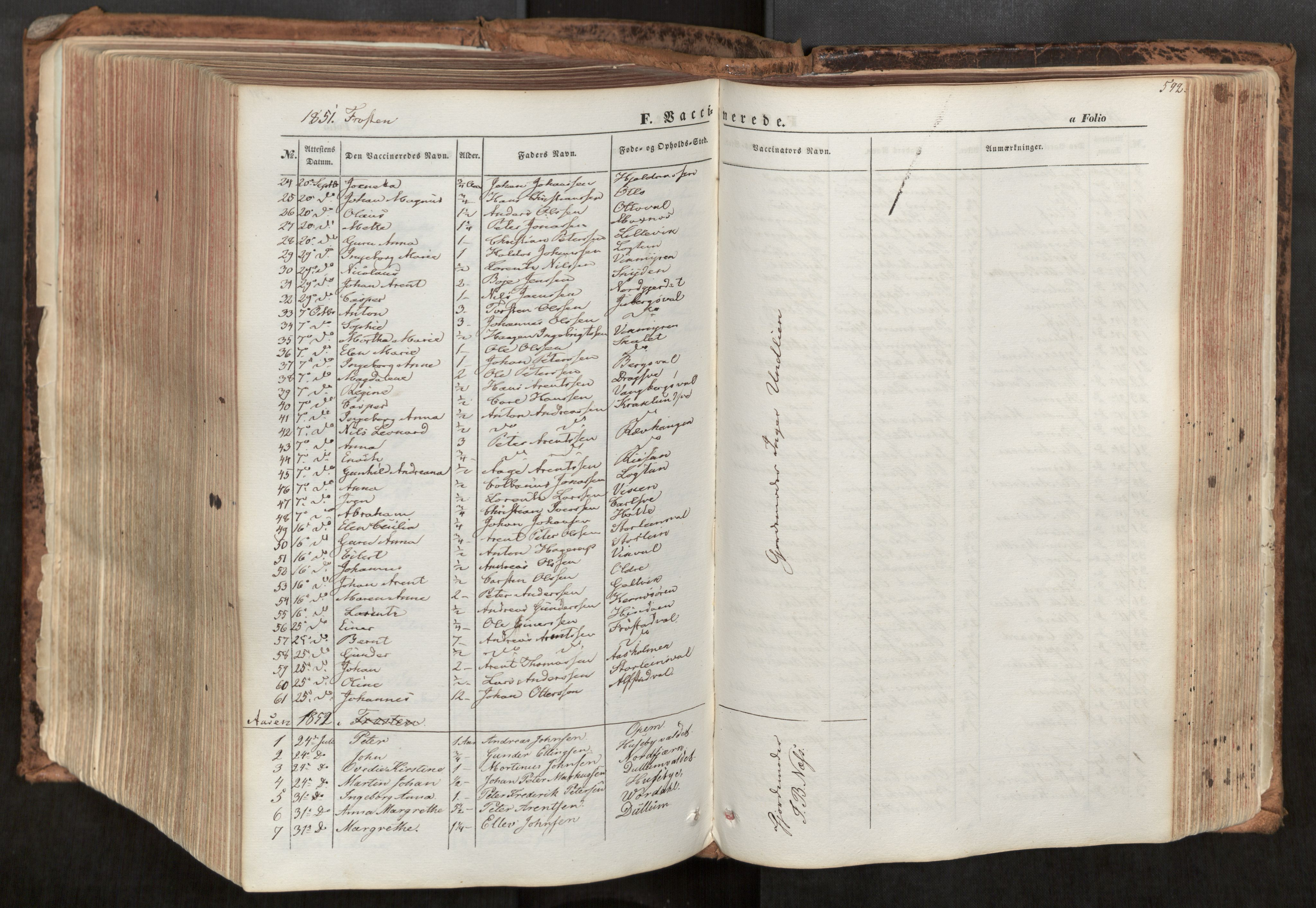 SAT, Ministerialprotokoller, klokkerbøker og fødselsregistre - Nord-Trøndelag, 713/L0116: Ministerialbok nr. 713A07, 1850-1877, s. 592