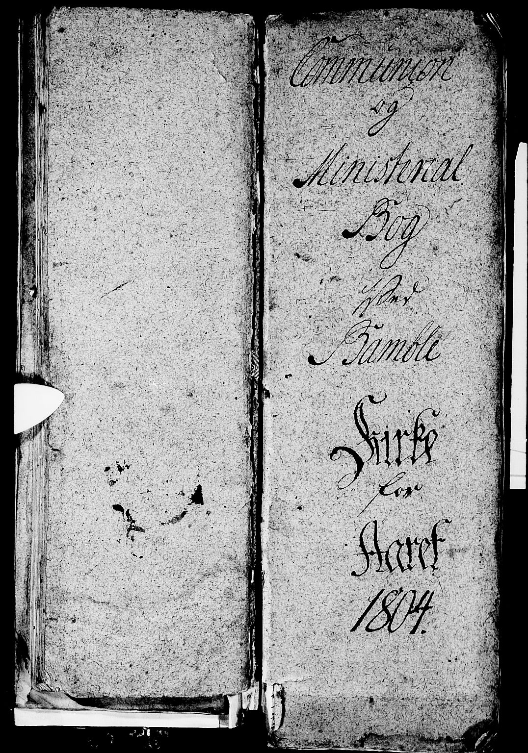 SAKO, Bamble kirkebøker, G/Ga/L0003: Klokkerbok nr. I 3, 1802-1807