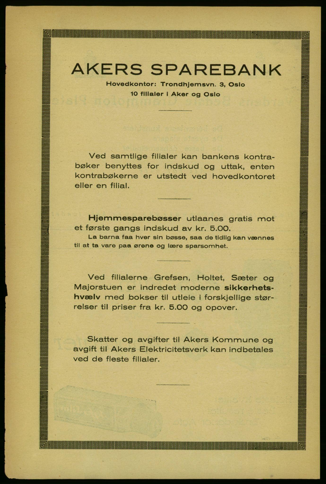 RA, Aker adressebok/adressekalender (publikasjon)*, 1929, s. 14