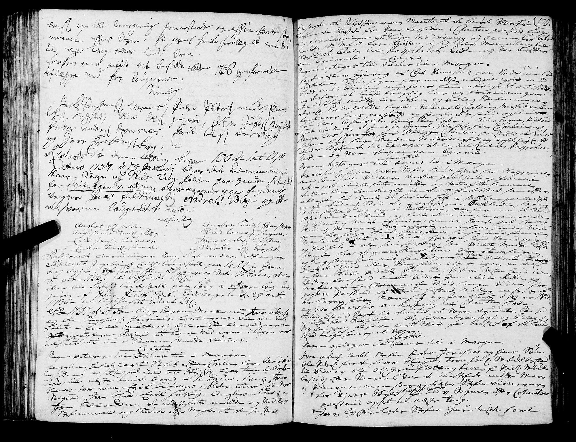 SAT, Romsdal sorenskriveri, 1/1A/L0011: Tingbok, 1732-1740, s. 169b-170a