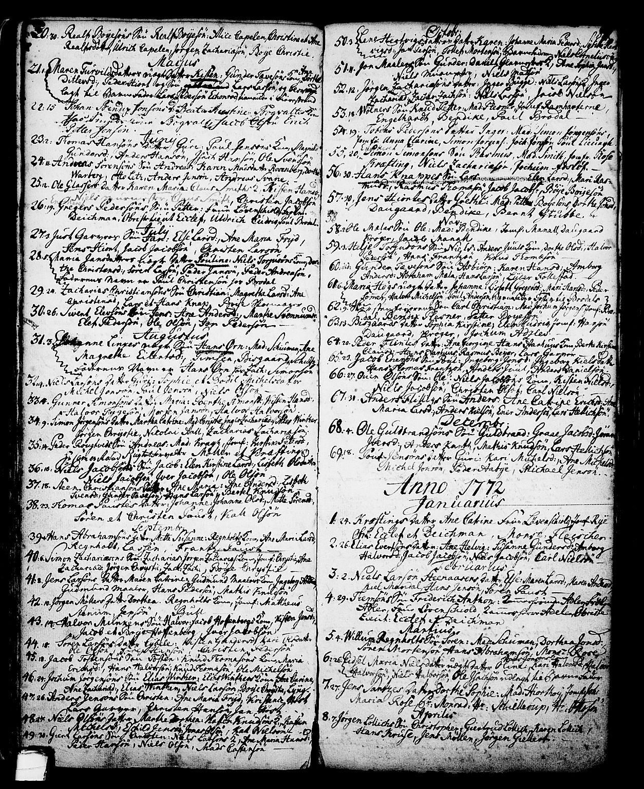 SAKO, Skien kirkebøker, G/Ga/L0001: Klokkerbok nr. 1, 1756-1791, s. 89