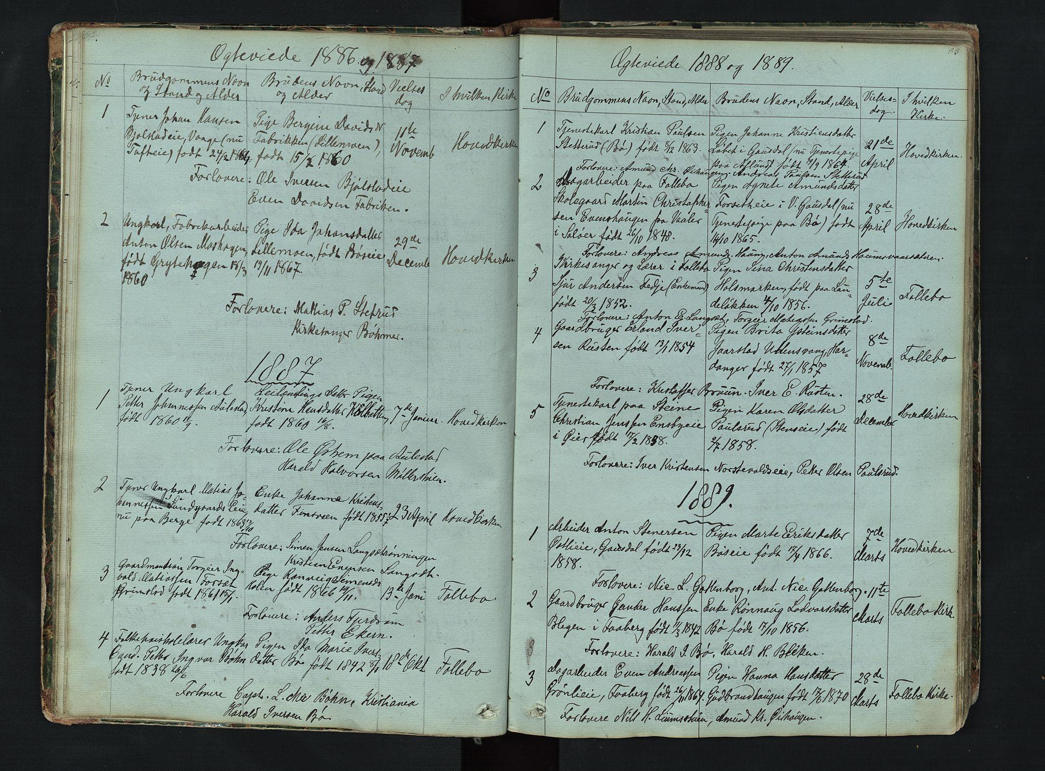 SAH, Gausdal prestekontor, Klokkerbok nr. 6, 1846-1893, s. 32-33