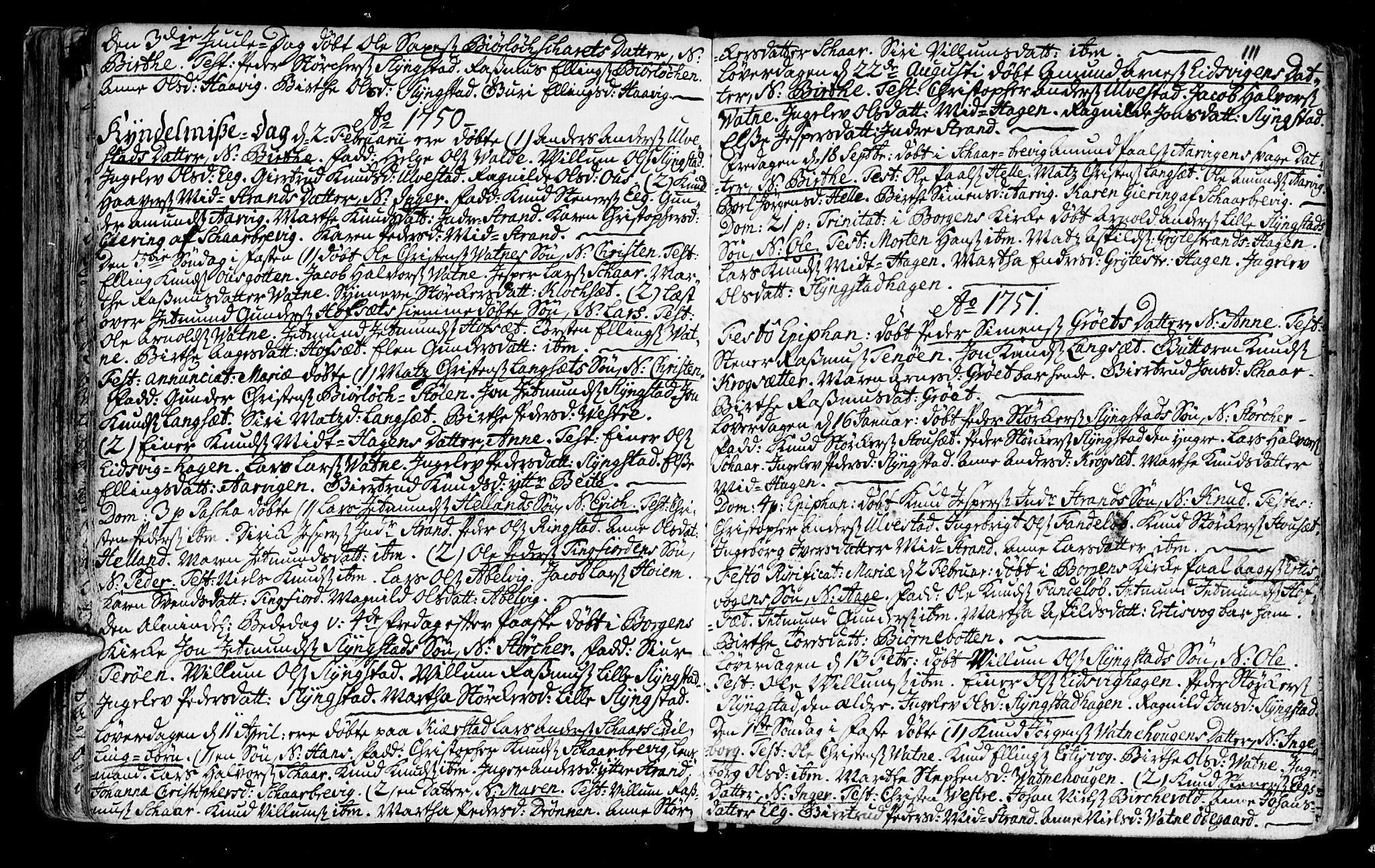 SAT, Ministerialprotokoller, klokkerbøker og fødselsregistre - Møre og Romsdal, 525/L0371: Ministerialbok nr. 525A01, 1699-1777, s. 111