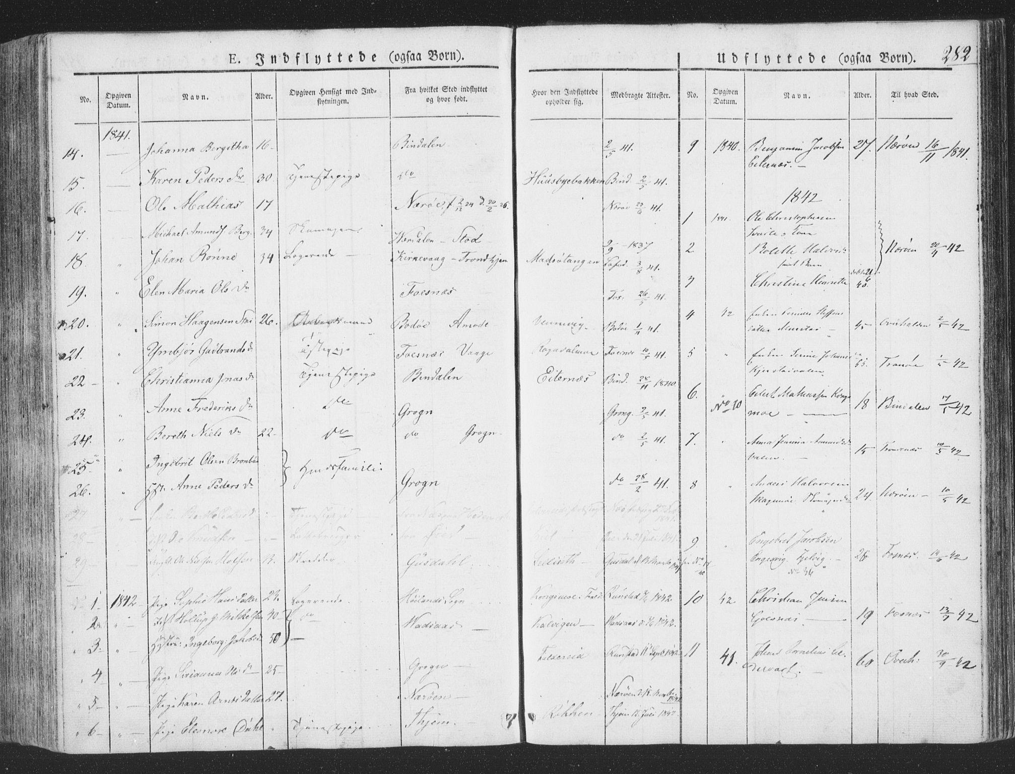 SAT, Ministerialprotokoller, klokkerbøker og fødselsregistre - Nord-Trøndelag, 780/L0639: Ministerialbok nr. 780A04, 1830-1844, s. 282
