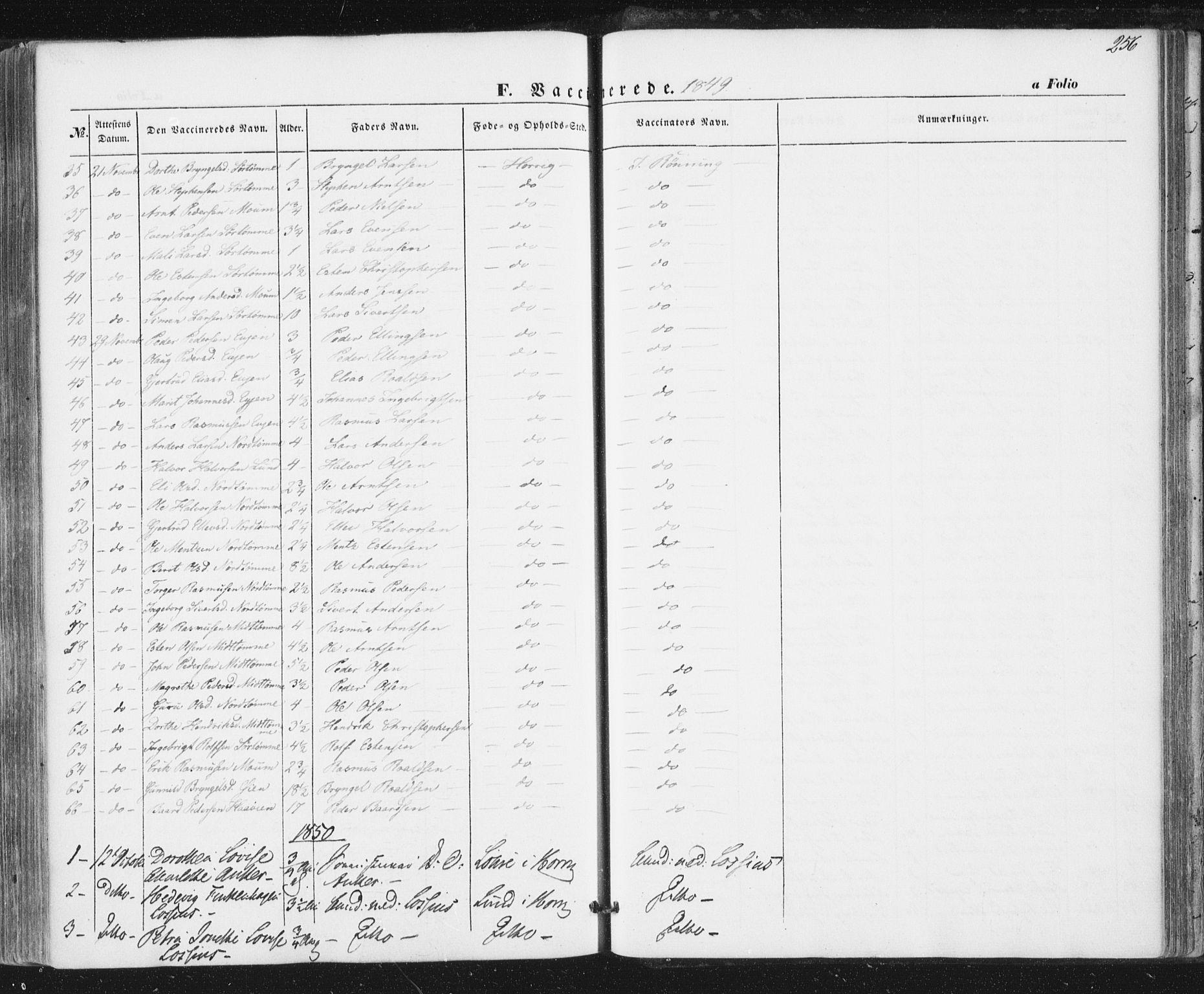 SAT, Ministerialprotokoller, klokkerbøker og fødselsregistre - Sør-Trøndelag, 692/L1103: Ministerialbok nr. 692A03, 1849-1870, s. 256