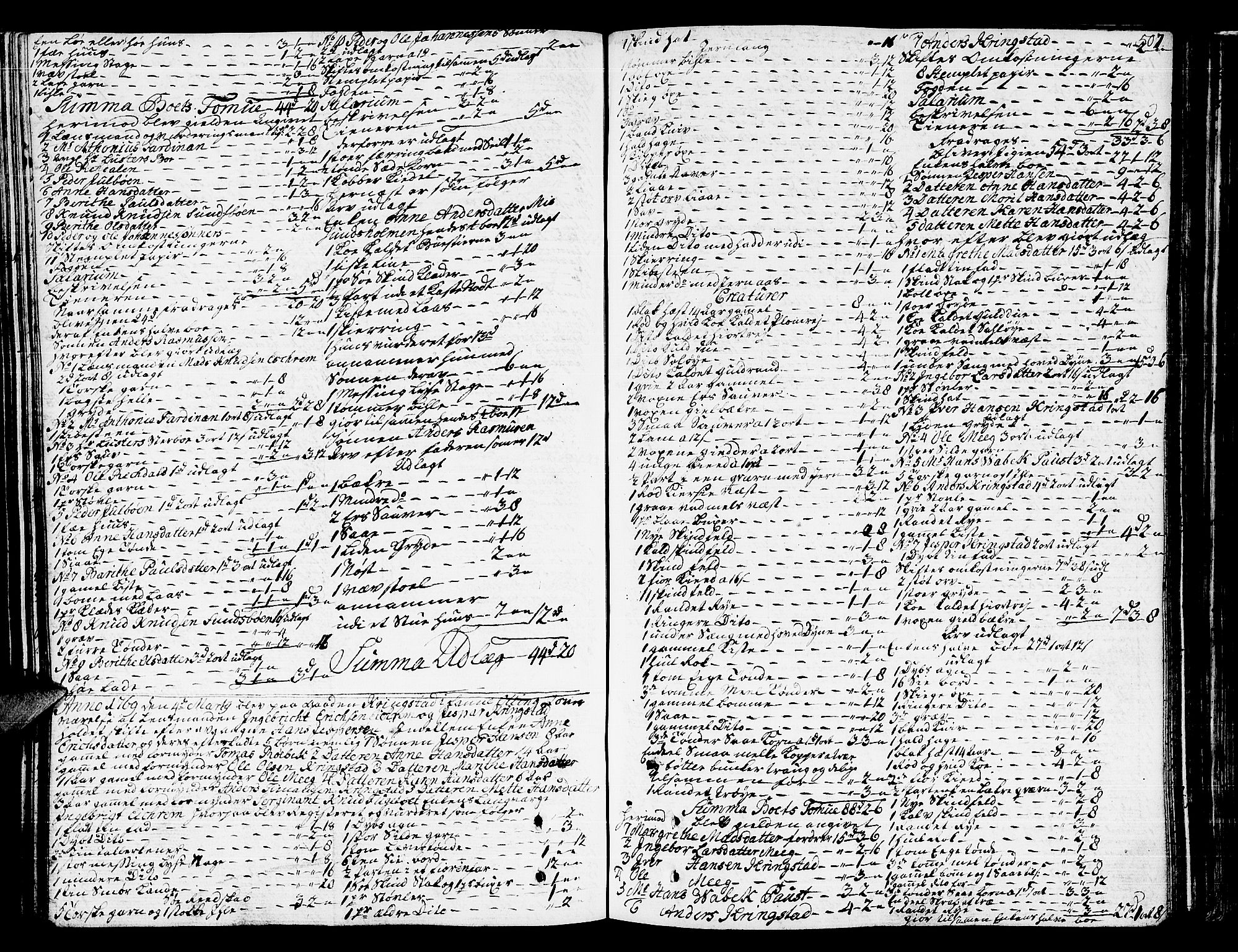 SAT, Romsdal sorenskriveri, 3/3A/L0009: Skifteprotokoll, 1761-1773, s. 506b-507a