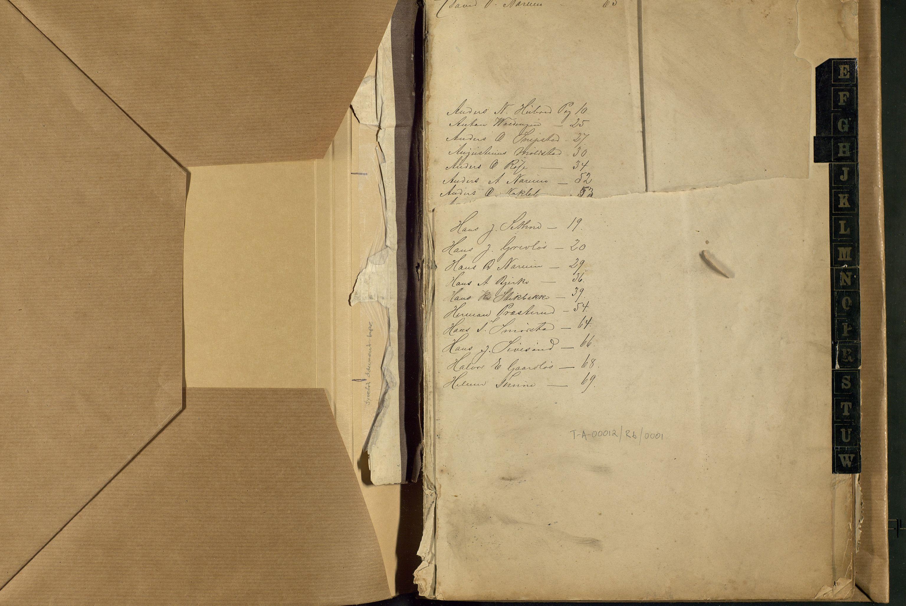 OAMM, Reskontro 1880–1881 (mangler omslag), 1880-1881, s. 1