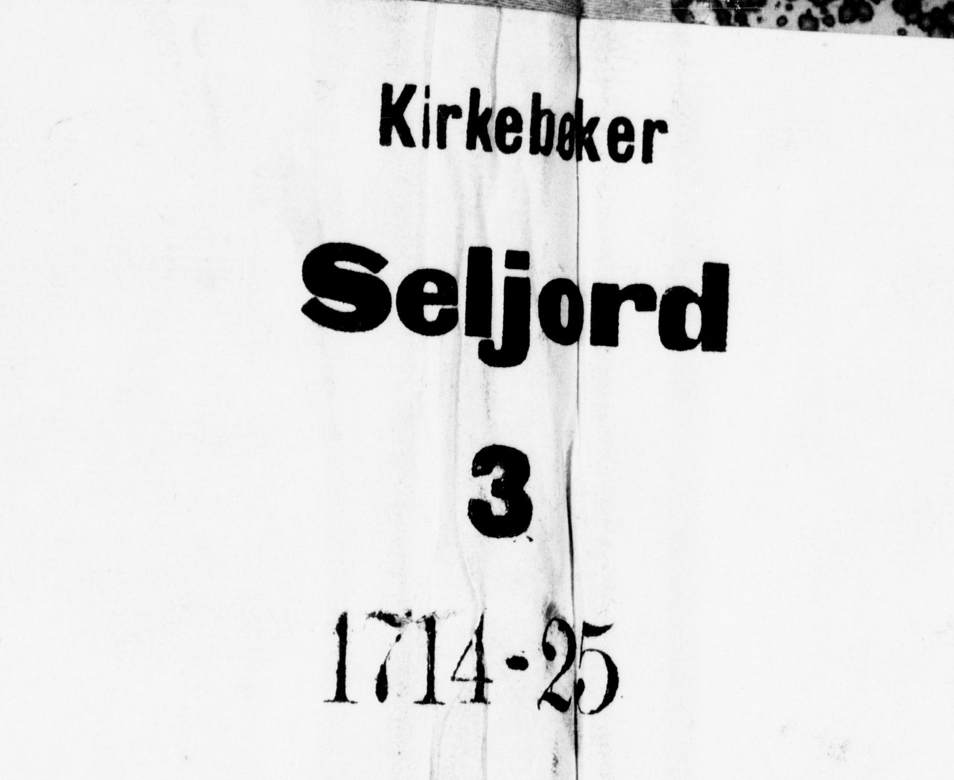 SAKO, Seljord kirkebøker, F/Fa/L0003: Ministerialbok nr. I 3, 1714-1725