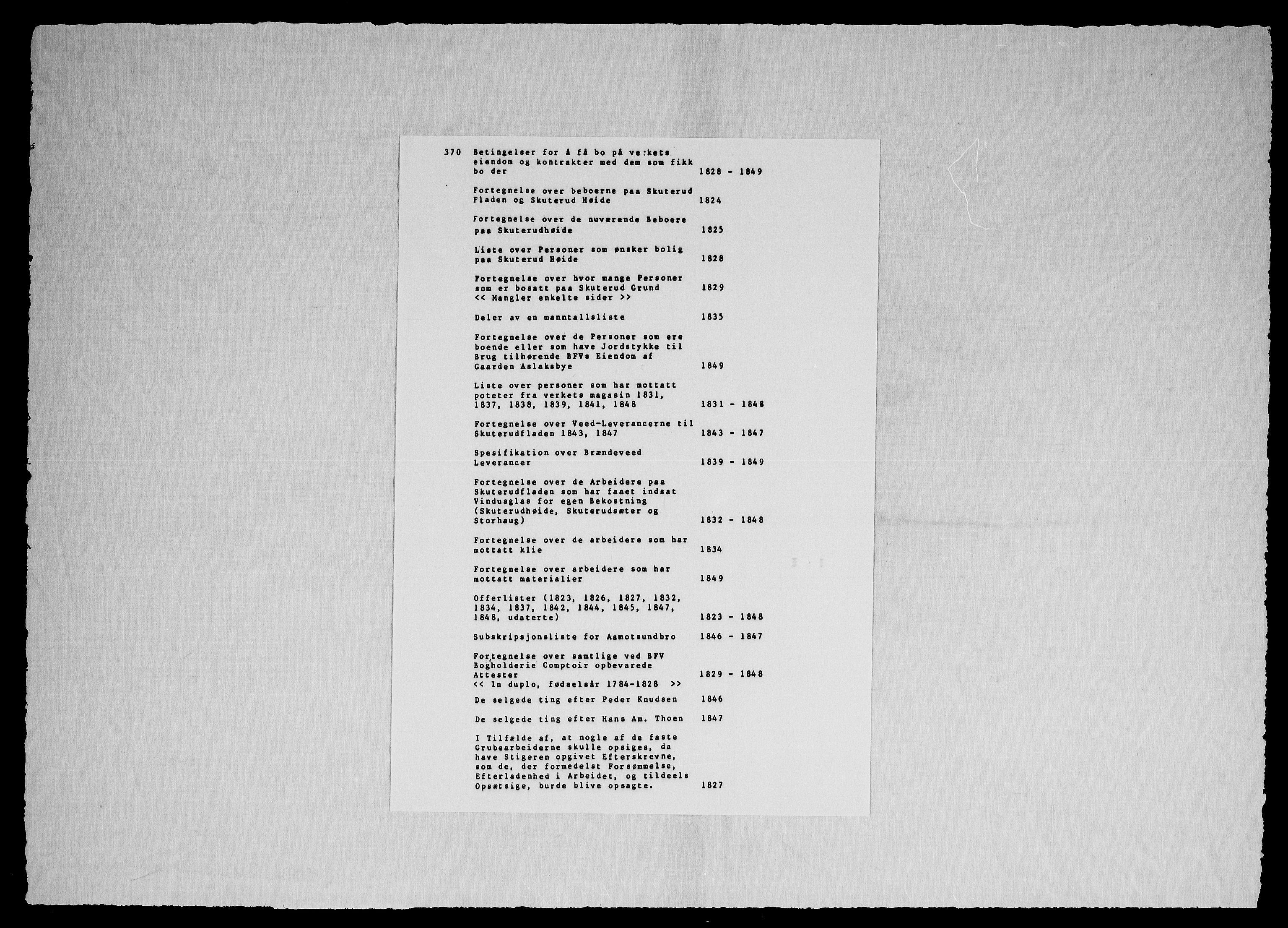 RA, Modums Blaafarveværk, G/Gg/L0370, 1823-1849, s. 2
