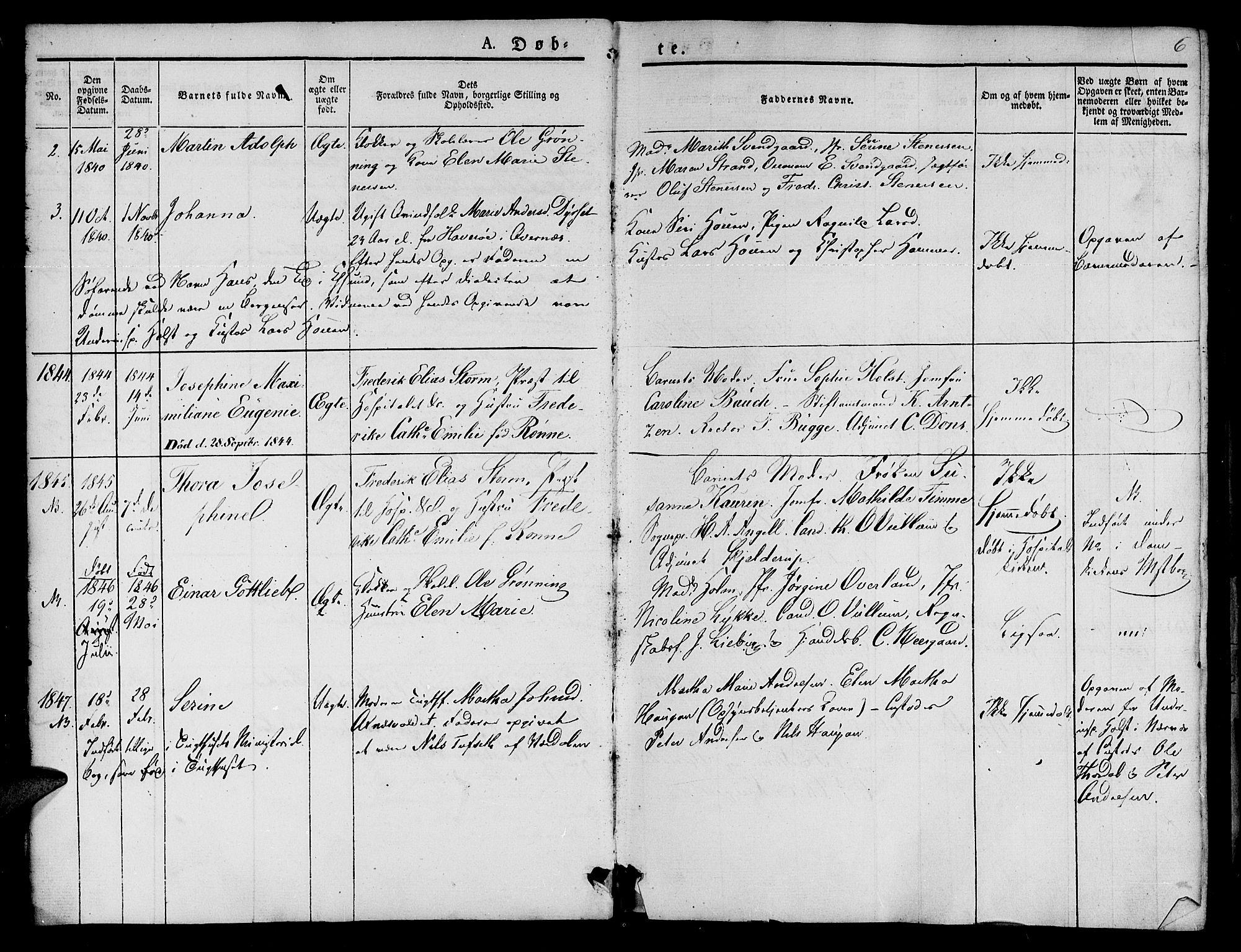 SAT, Ministerialprotokoller, klokkerbøker og fødselsregistre - Sør-Trøndelag, 623/L0468: Ministerialbok nr. 623A02, 1826-1867, s. 6