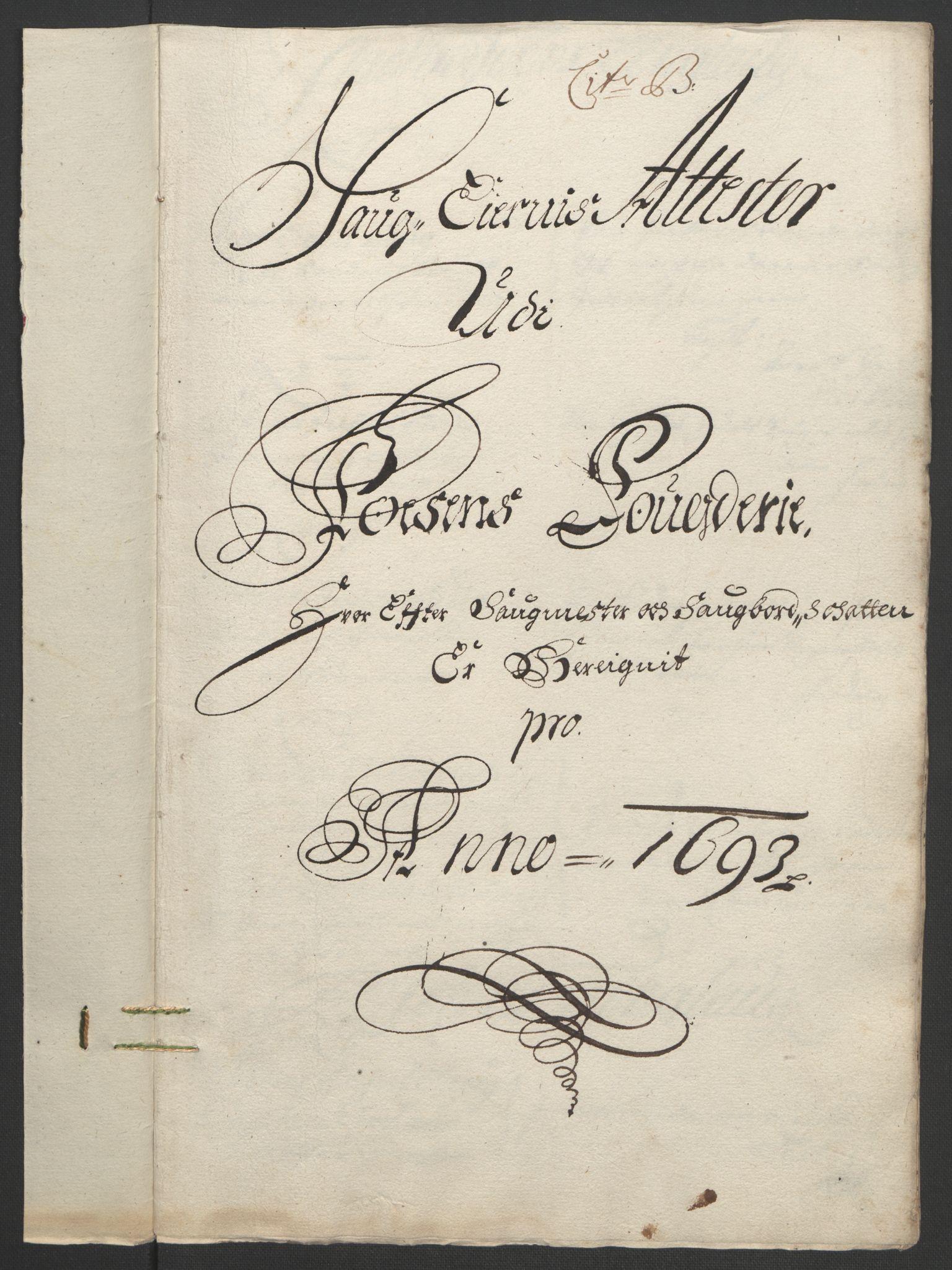 RA, Rentekammeret inntil 1814, Reviderte regnskaper, Fogderegnskap, R57/L3849: Fogderegnskap Fosen, 1692-1693, s. 441