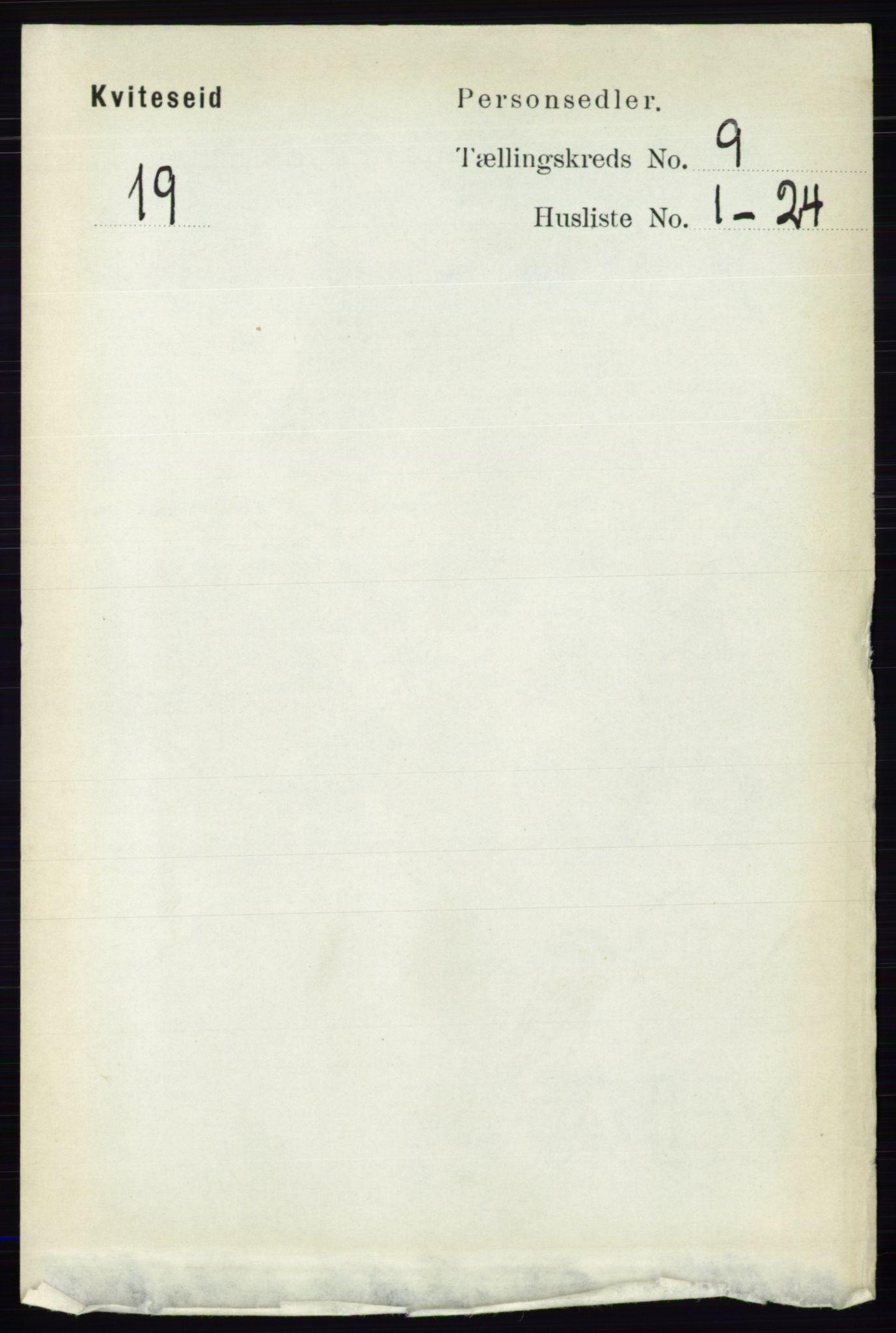 RA, Folketelling 1891 for 0829 Kviteseid herred, 1891, s. 1990