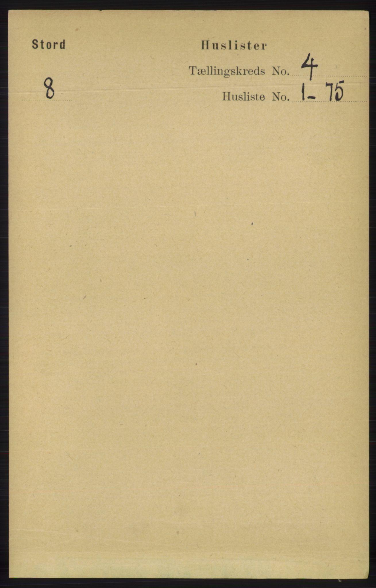 RA, Folketelling 1891 for 1221 Stord herred, 1891, s. 957