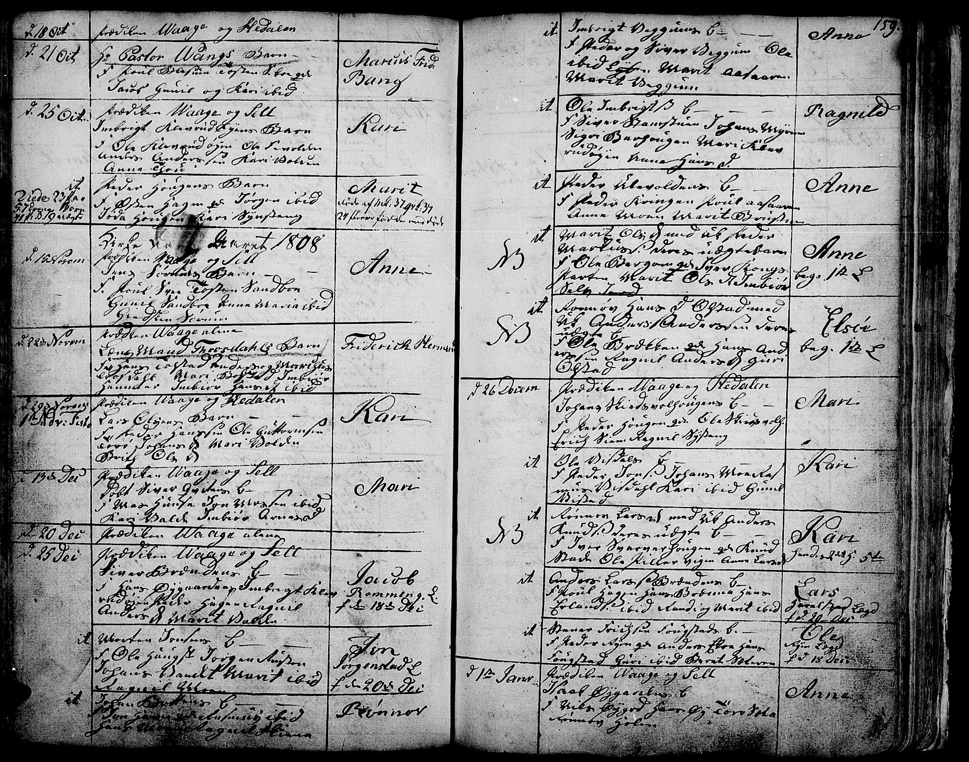 SAH, Vågå prestekontor, Ministerialbok nr. 1, 1739-1810, s. 159