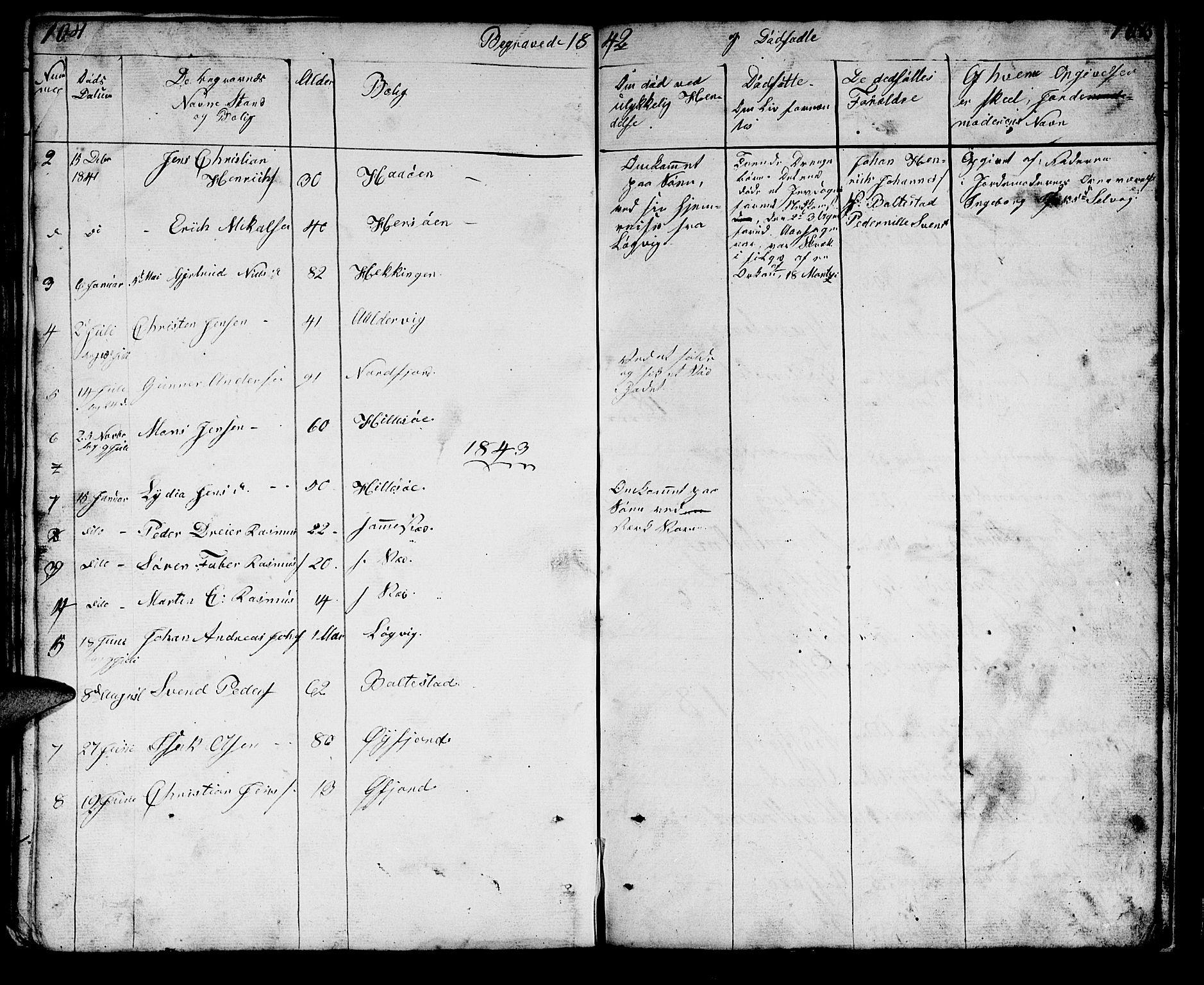 SATØ, Lenvik sokneprestembete, H/Ha: Klokkerbok nr. 18, 1838-1854, s. 104-105