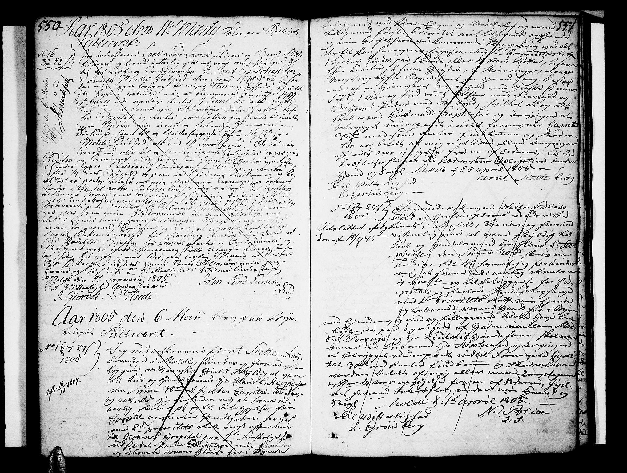 SAT, Molde byfogd, 2/2C/L0001: Pantebok nr. 1, 1748-1823, s. 550-551