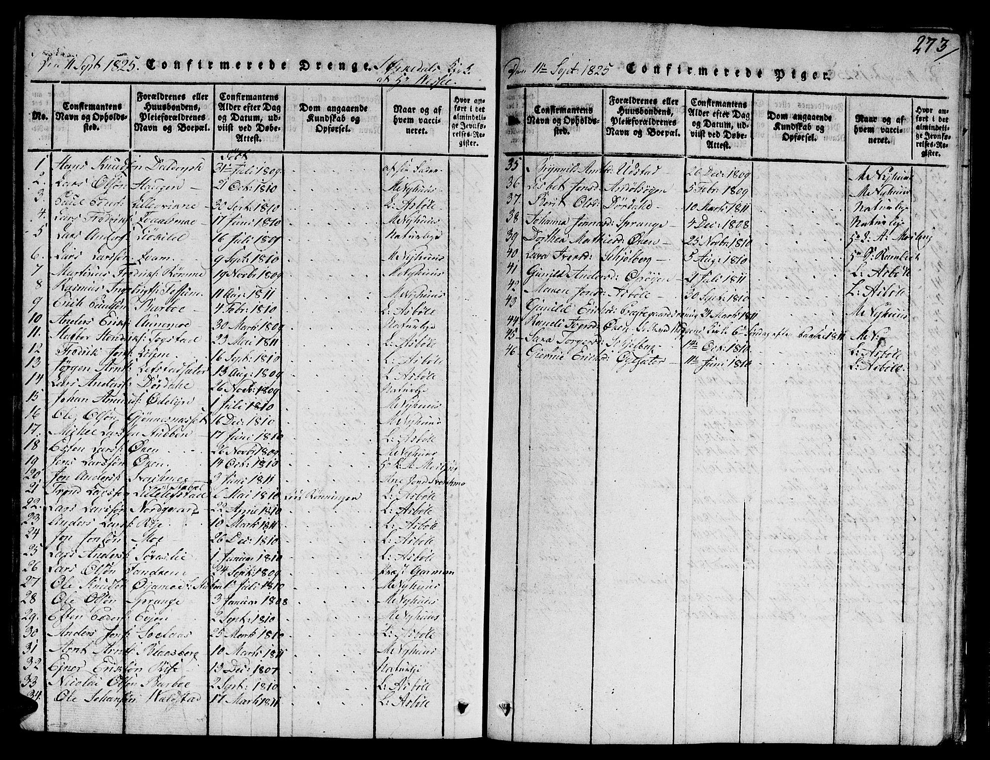 SAT, Ministerialprotokoller, klokkerbøker og fødselsregistre - Sør-Trøndelag, 668/L0803: Ministerialbok nr. 668A03, 1800-1826, s. 273