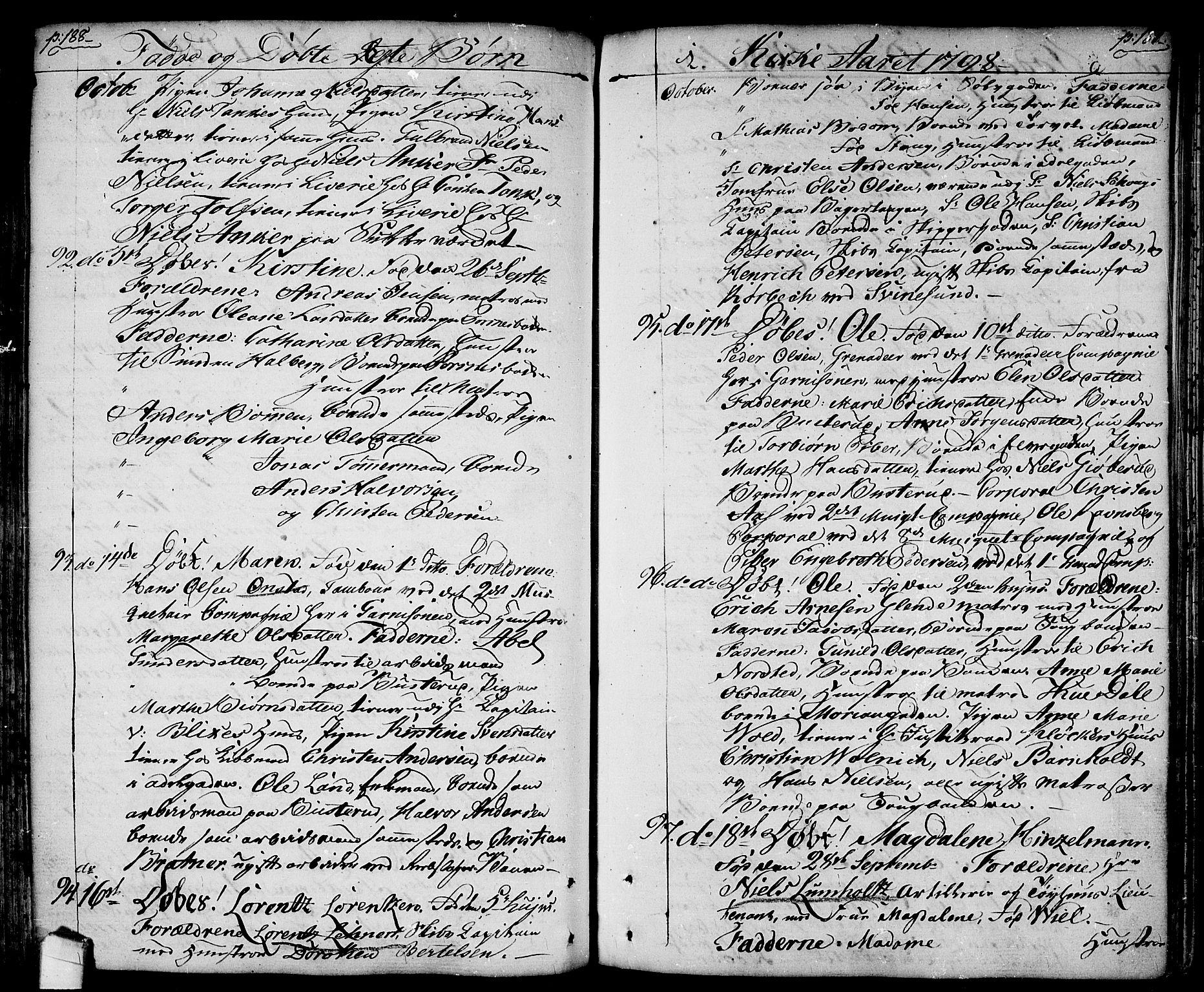 SAO, Halden prestekontor Kirkebøker, F/Fa/L0002: Ministerialbok nr. I 2, 1792-1812, s. 188-189