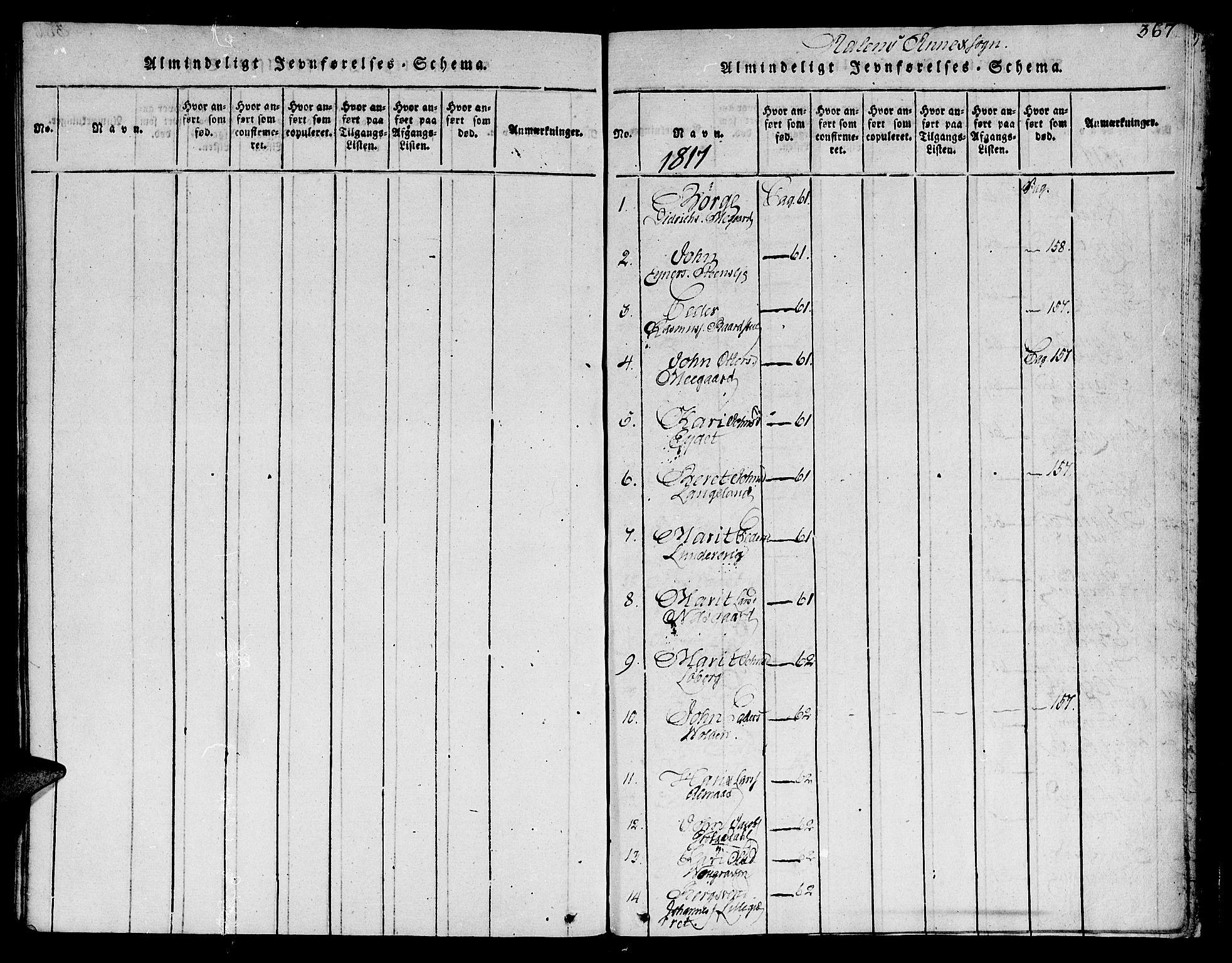 SAT, Ministerialprotokoller, klokkerbøker og fødselsregistre - Sør-Trøndelag, 685/L0956: Ministerialbok nr. 685A03 /3, 1817-1829, s. 367