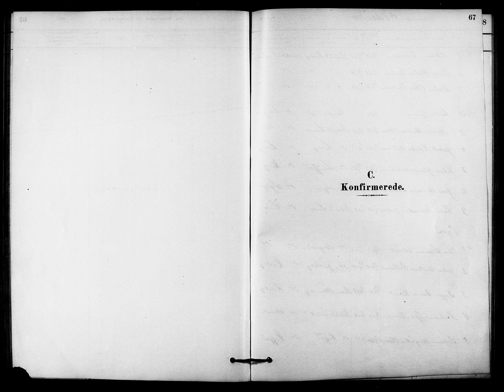 SAT, Ministerialprotokoller, klokkerbøker og fødselsregistre - Sør-Trøndelag, 656/L0692: Ministerialbok nr. 656A01, 1879-1893, s. 67
