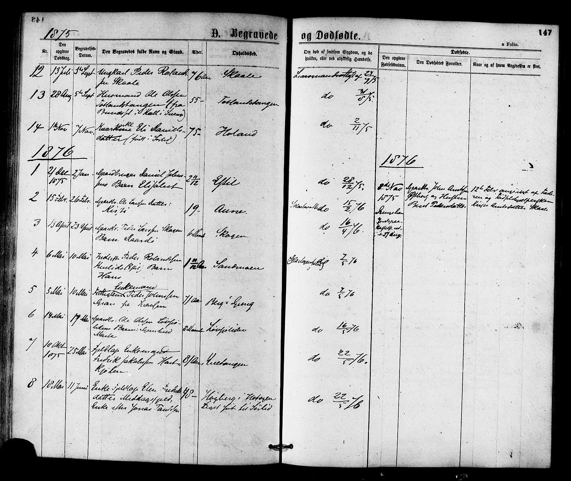 SAT, Ministerialprotokoller, klokkerbøker og fødselsregistre - Nord-Trøndelag, 755/L0493: Ministerialbok nr. 755A02, 1865-1881, s. 147