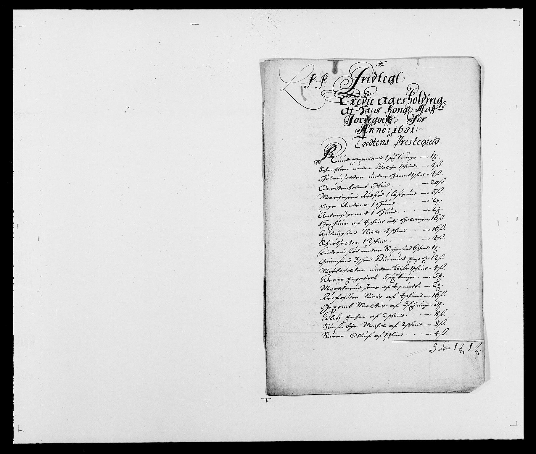 RA, Rentekammeret inntil 1814, Reviderte regnskaper, Fogderegnskap, R18/L1278: Fogderegnskap Hadeland, Toten og Valdres, 1681, s. 155