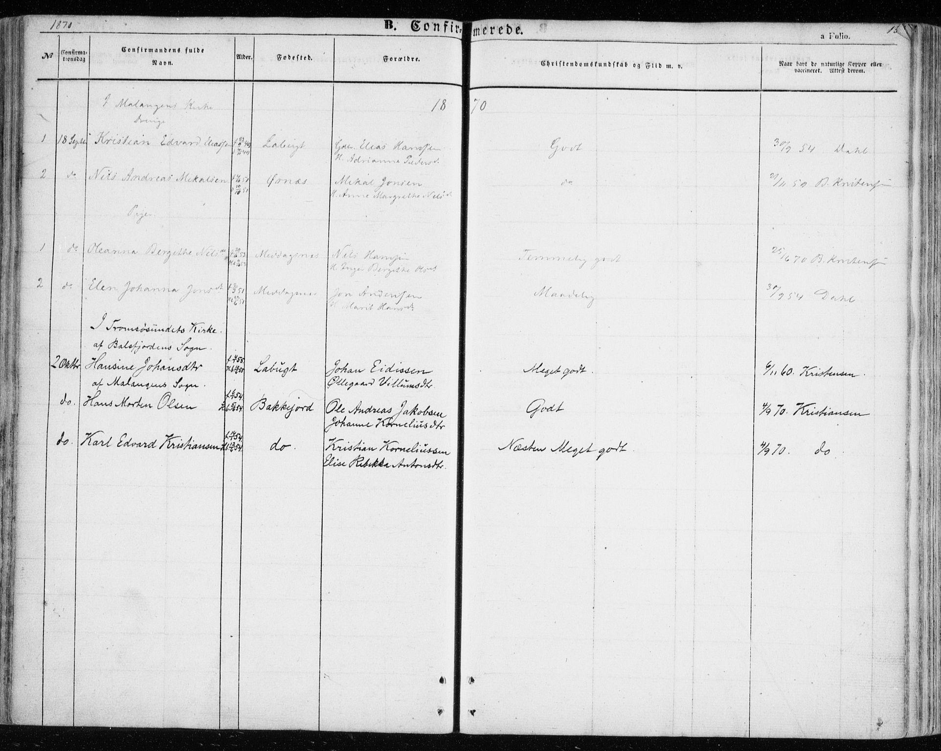 SATØ, Balsfjord sokneprestembete, Ministerialbok nr. 3, 1856-1870, s. 134