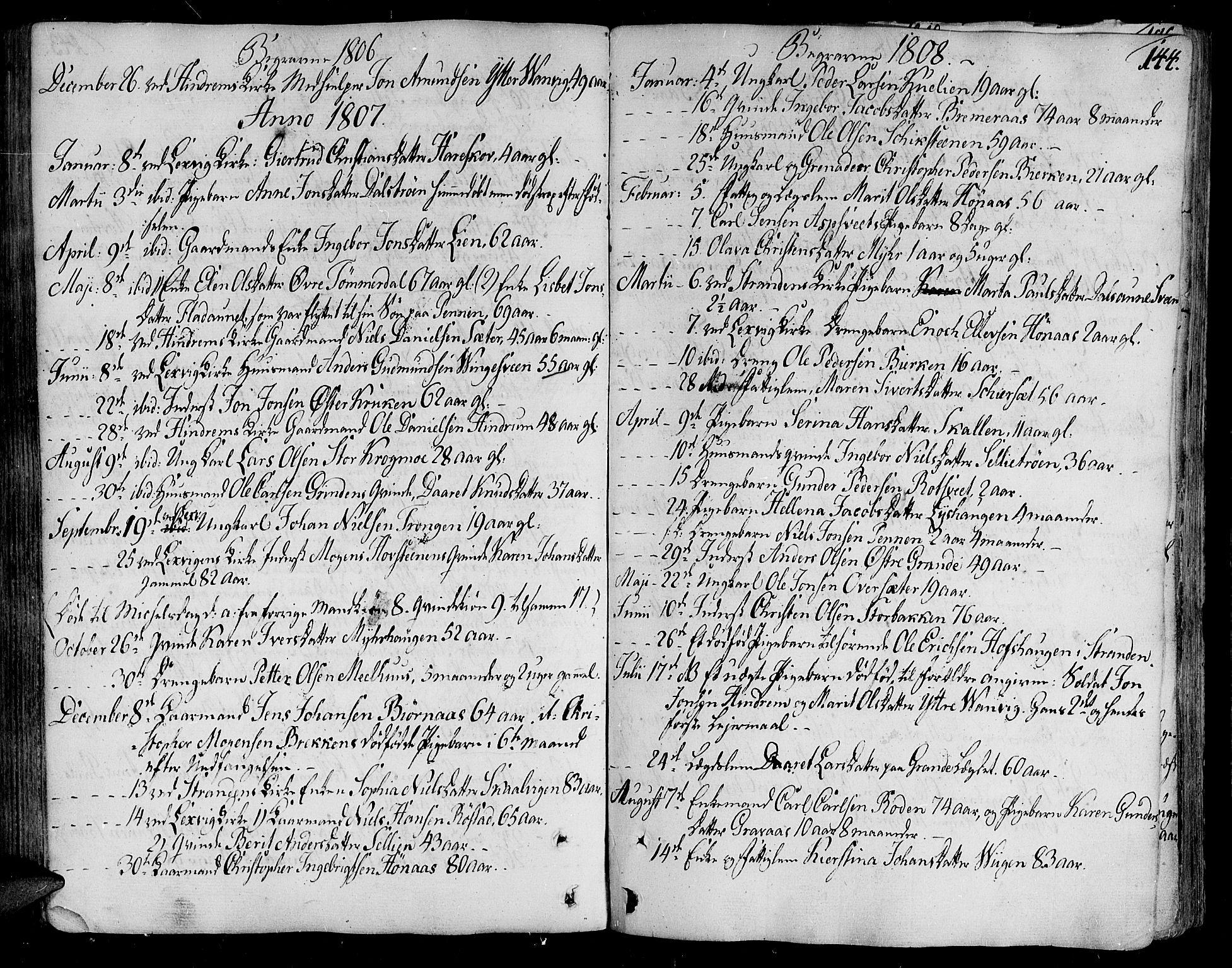 SAT, Ministerialprotokoller, klokkerbøker og fødselsregistre - Nord-Trøndelag, 701/L0004: Ministerialbok nr. 701A04, 1783-1816, s. 144