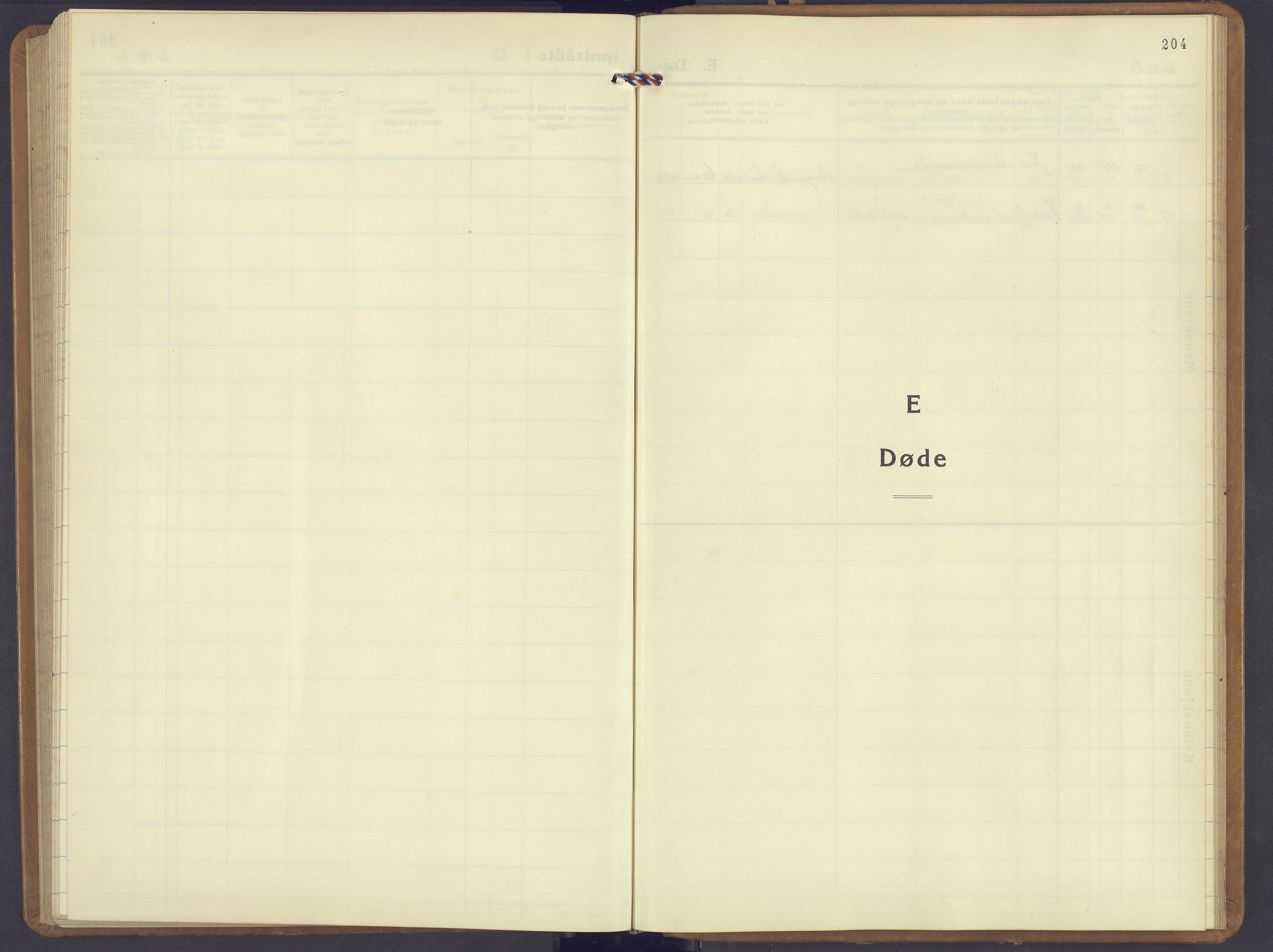SAH, Jevnaker prestekontor, Klokkerbok nr. 6, 1930-1945, s. 204