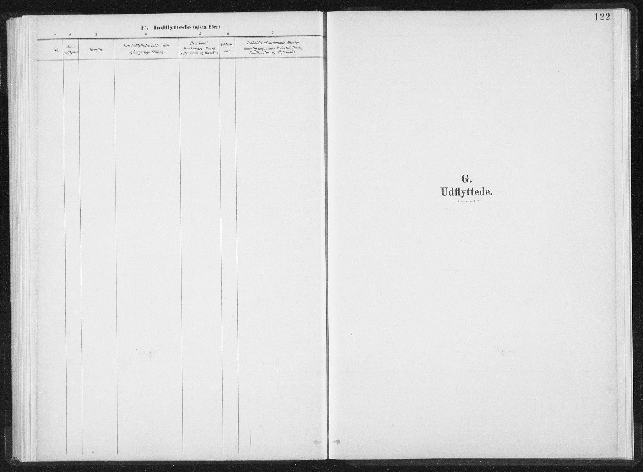 SAT, Ministerialprotokoller, klokkerbøker og fødselsregistre - Nord-Trøndelag, 724/L0263: Ministerialbok nr. 724A01, 1891-1907, s. 122