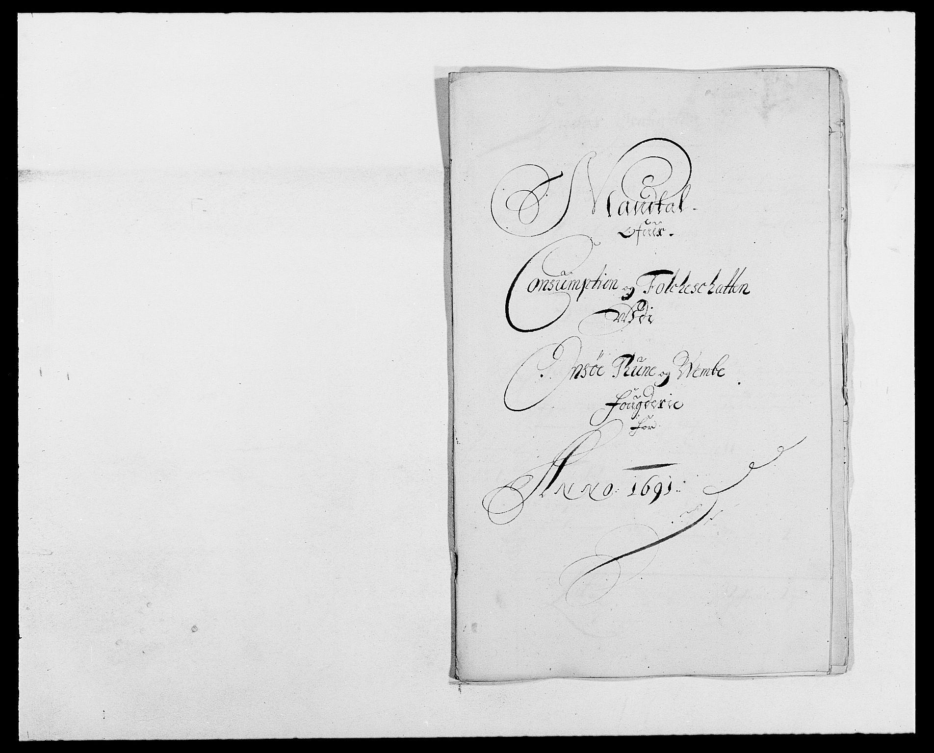 RA, Rentekammeret inntil 1814, Reviderte regnskaper, Fogderegnskap, R03/L0119: Fogderegnskap Onsøy, Tune, Veme og Åbygge fogderi, 1690-1691, s. 412