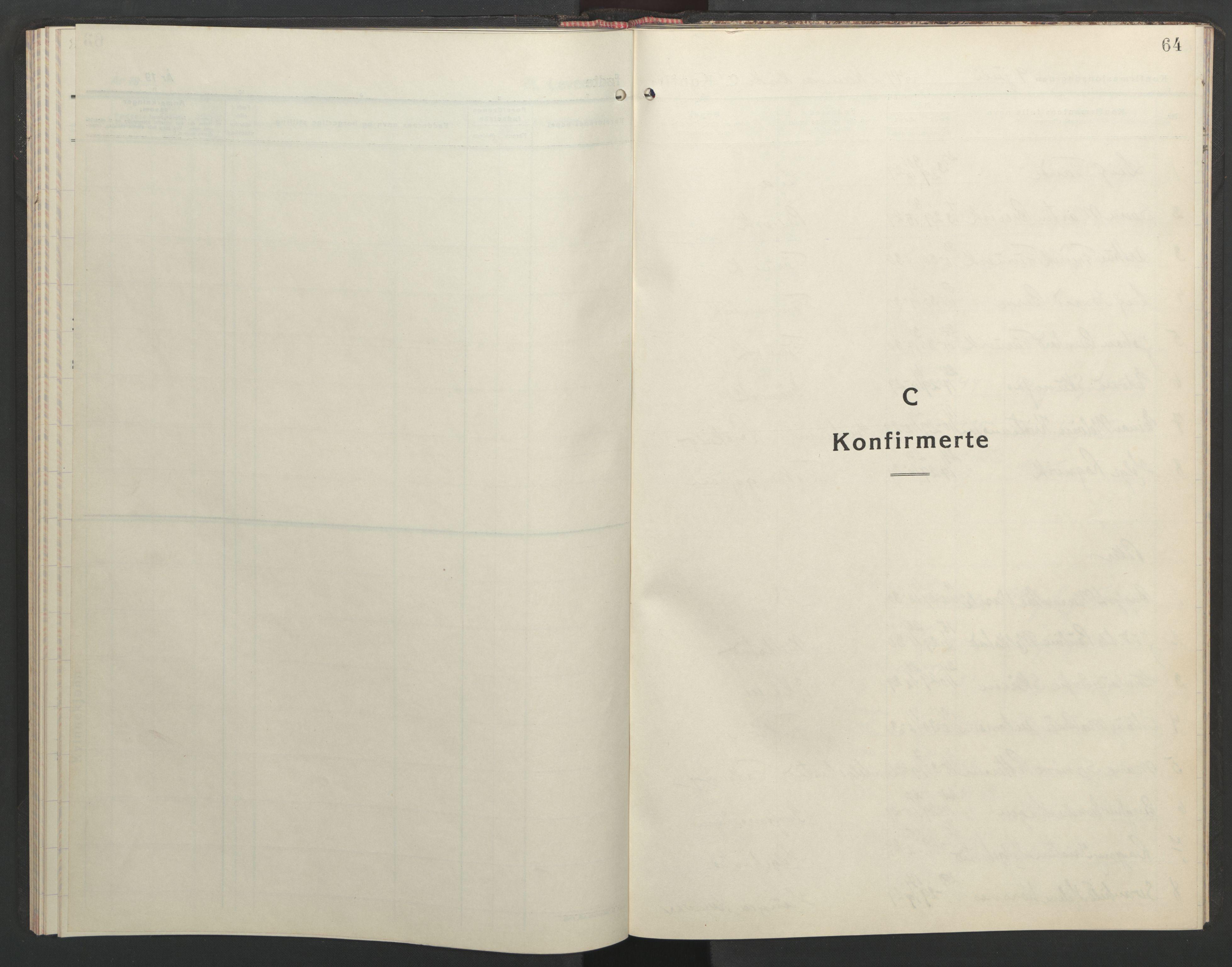 SAT, Ministerialprotokoller, klokkerbøker og fødselsregistre - Sør-Trøndelag, 635/L0556: Klokkerbok nr. 635C04, 1943-1945, s. 64