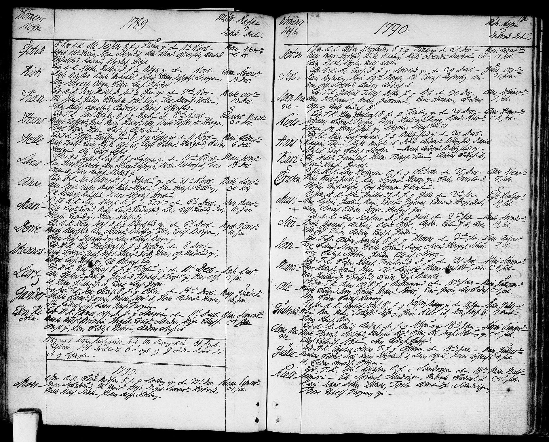 SAO, Asker prestekontor Kirkebøker, F/Fa/L0003: Ministerialbok nr. I 3, 1767-1807, s. 106