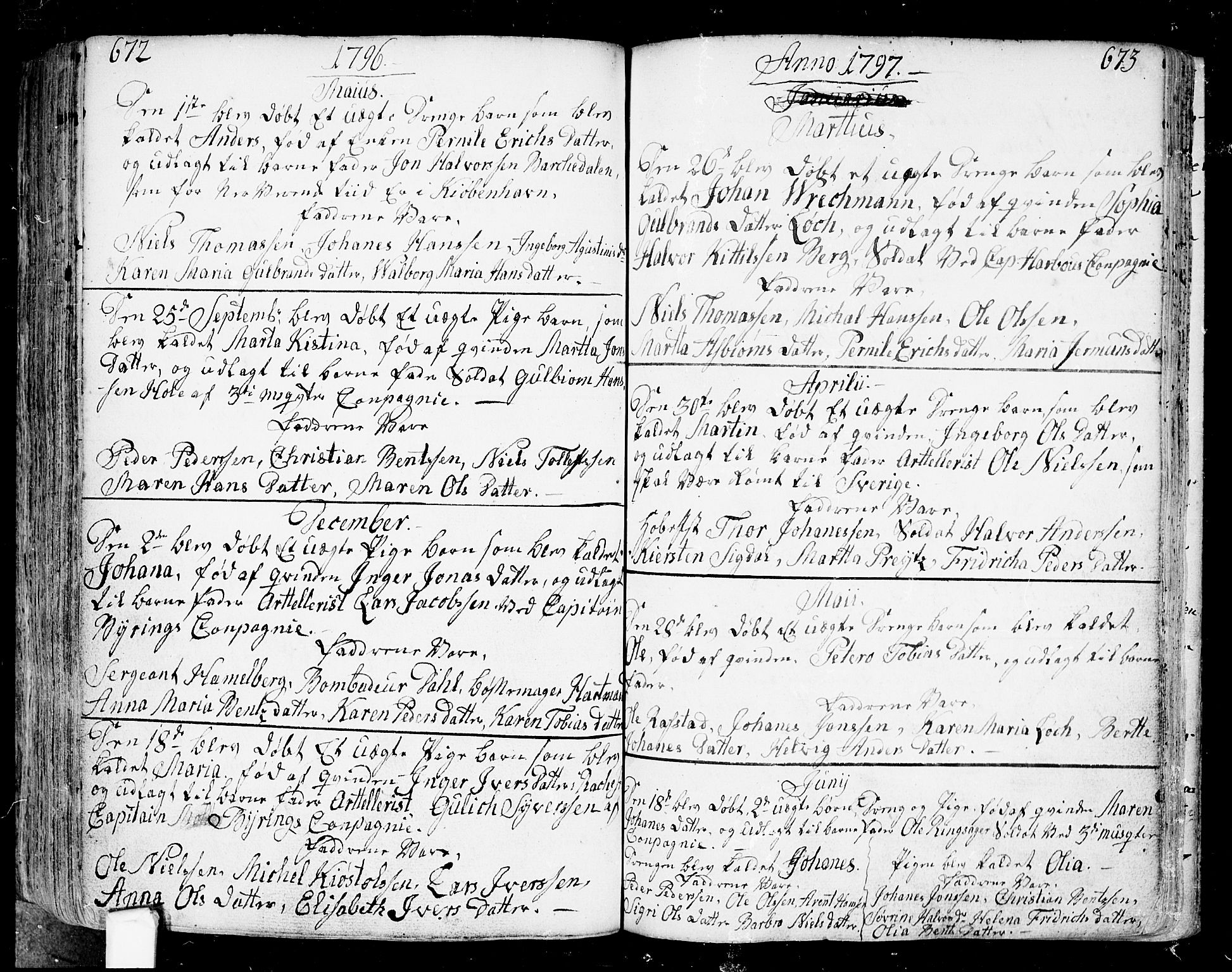 SAO, Fredrikstad prestekontor Kirkebøker, F/Fa/L0002: Ministerialbok nr. 2, 1750-1804, s. 672-673