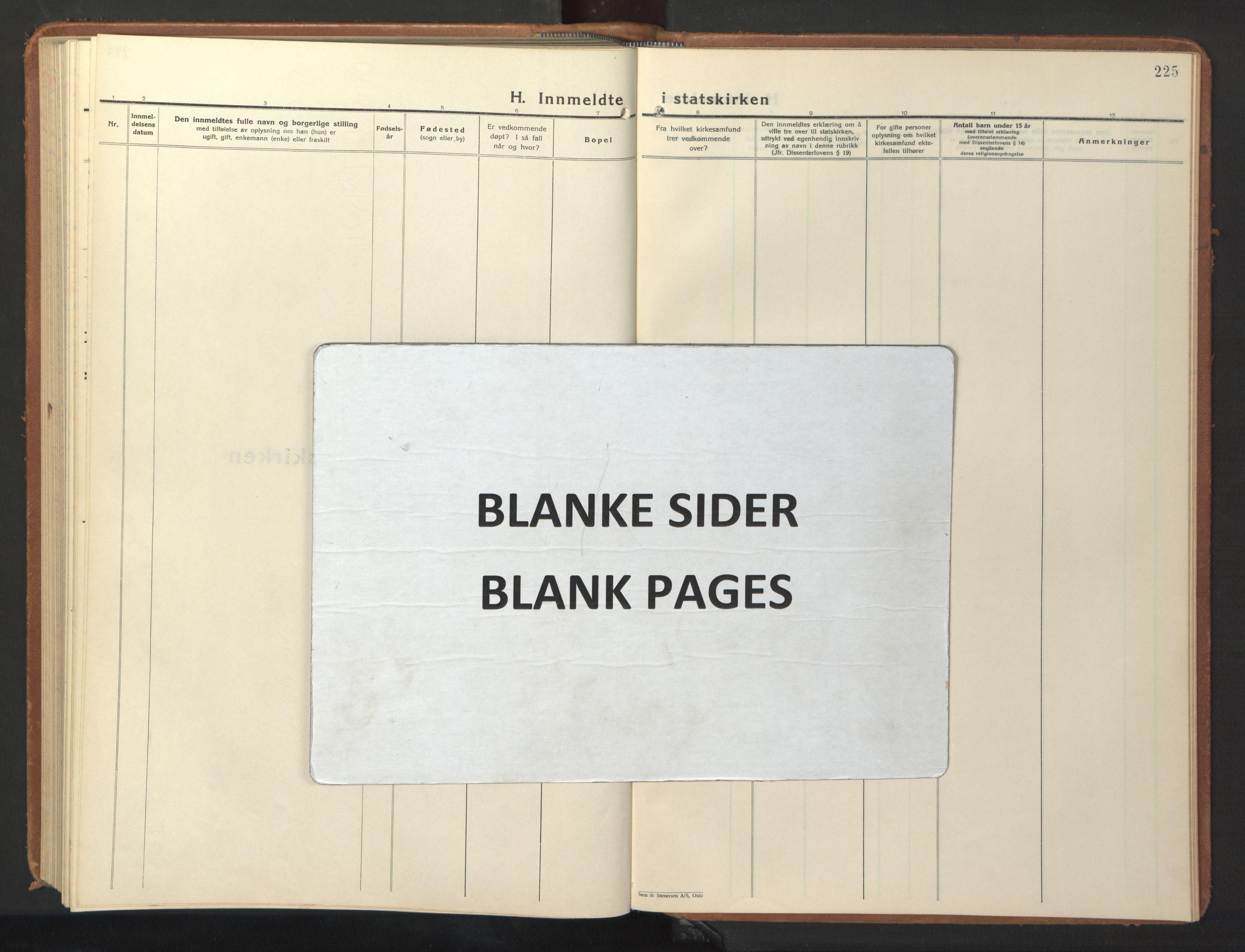SAT, Ministerialprotokoller, klokkerbøker og fødselsregistre - Sør-Trøndelag, 640/L0590: Klokkerbok nr. 640C07, 1935-1948, s. 225